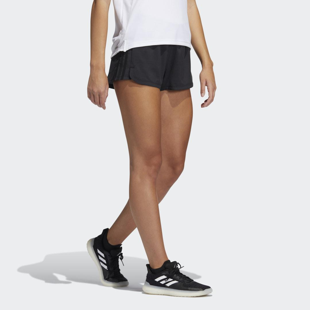Pacer 3-Stripes Woven Heather Shorts Black