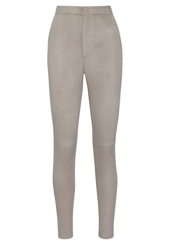 HIGH WAISTED SUEDE PANT 1
