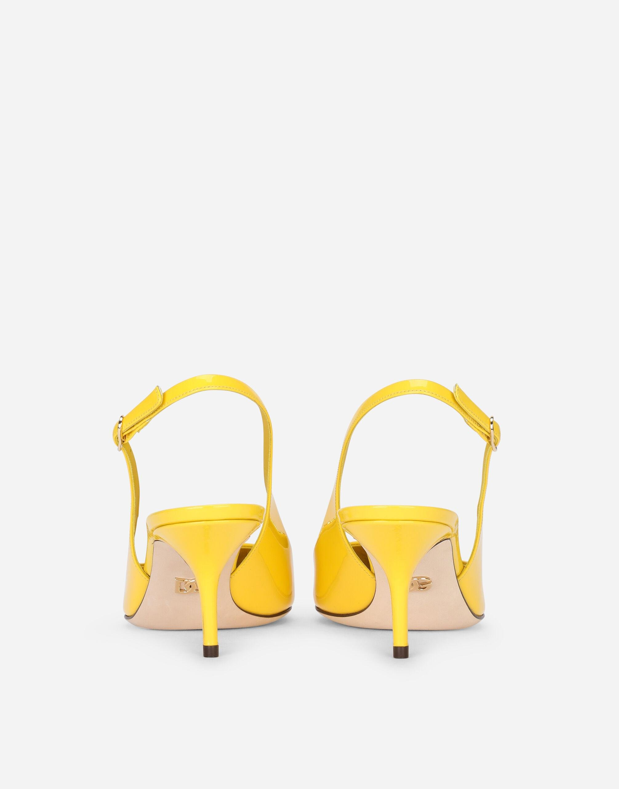 Patent leather slingbacks with DG logo 2