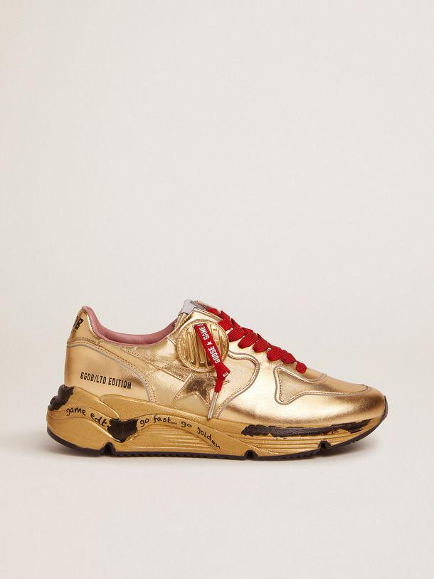 Running Sole Game EDT Capsule Collection sneakers in gold lurex