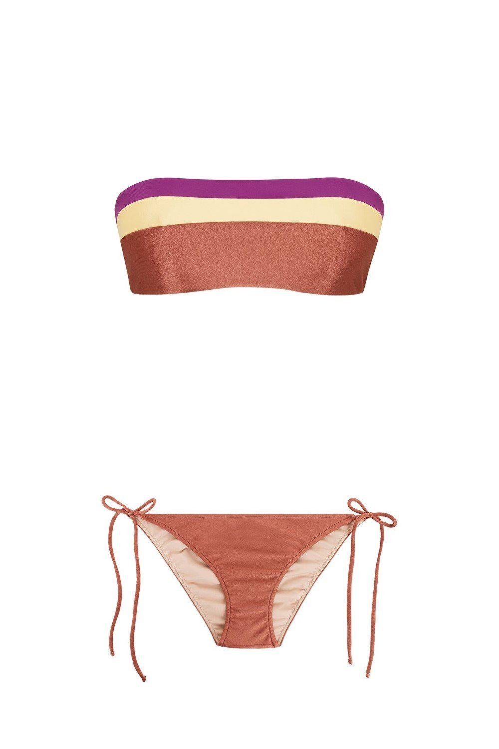 Cinque Terre Strapless Bikini with Side Ties 2