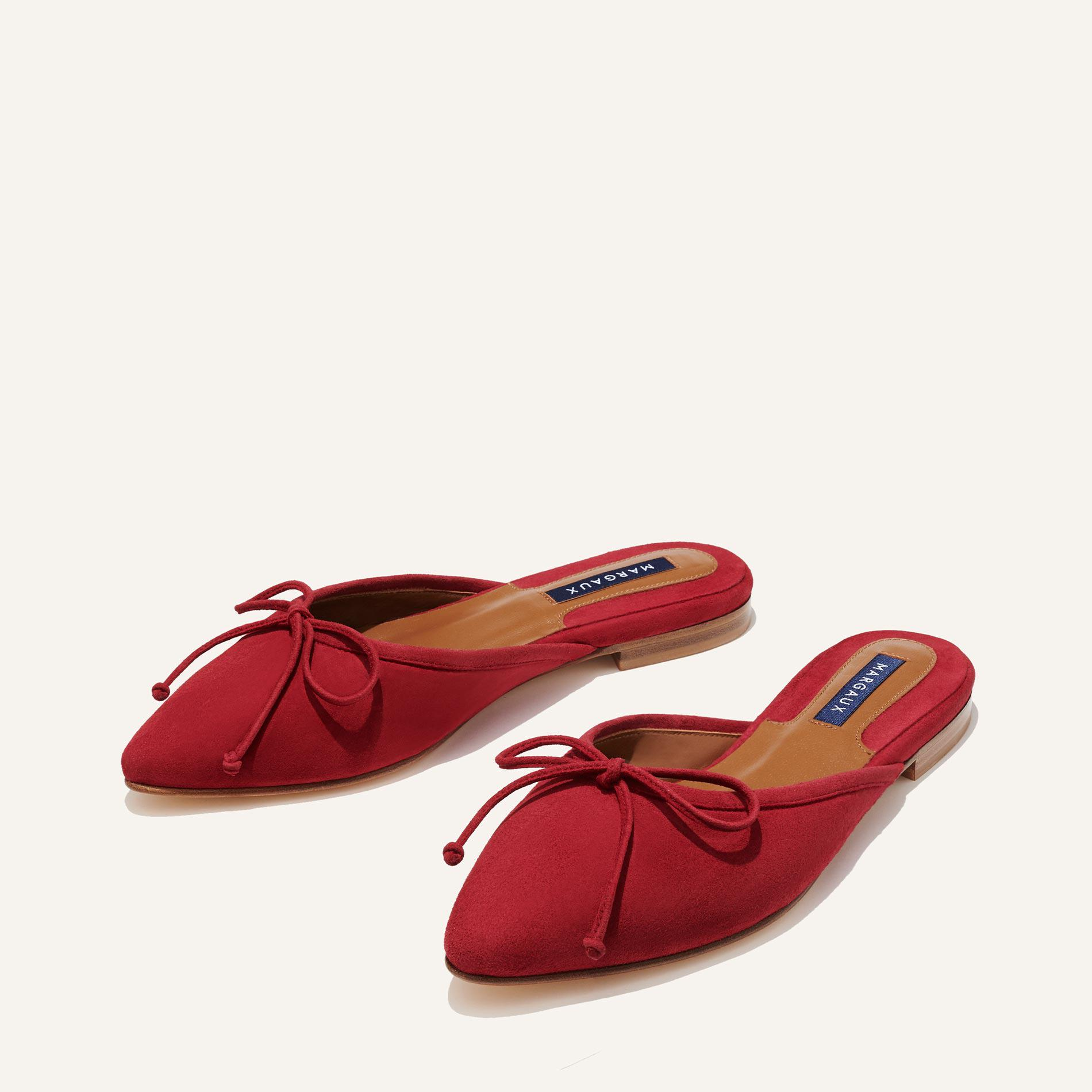 The Ballet Mule - Ruby Suede