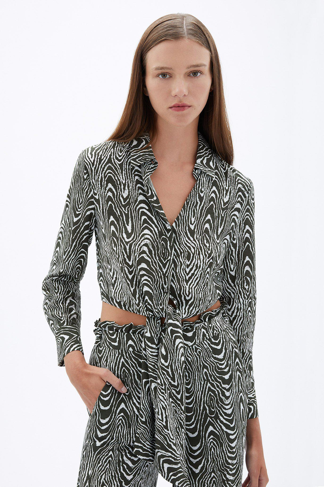 Paola Printed Coverup Top