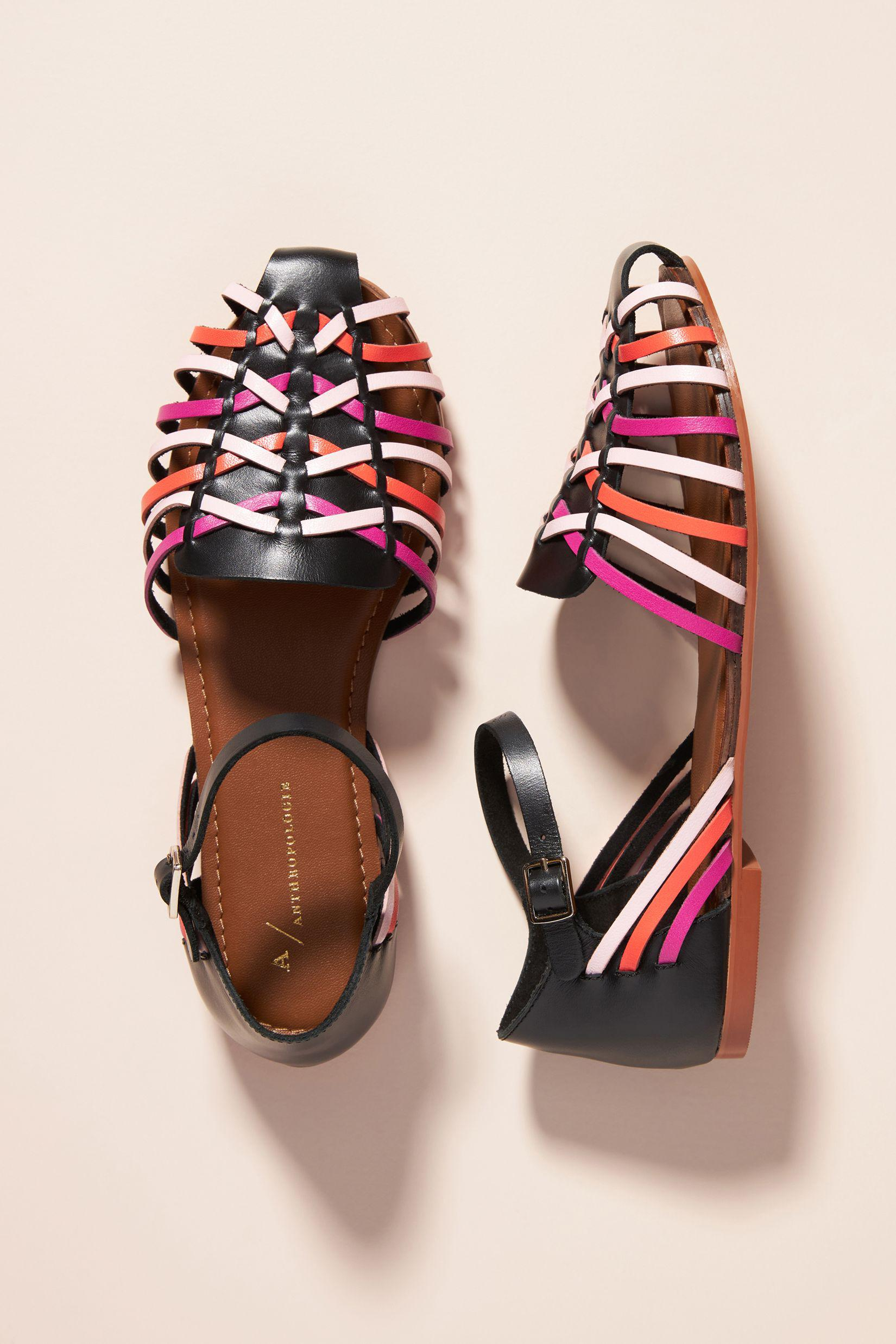Woven Leather Flats 0