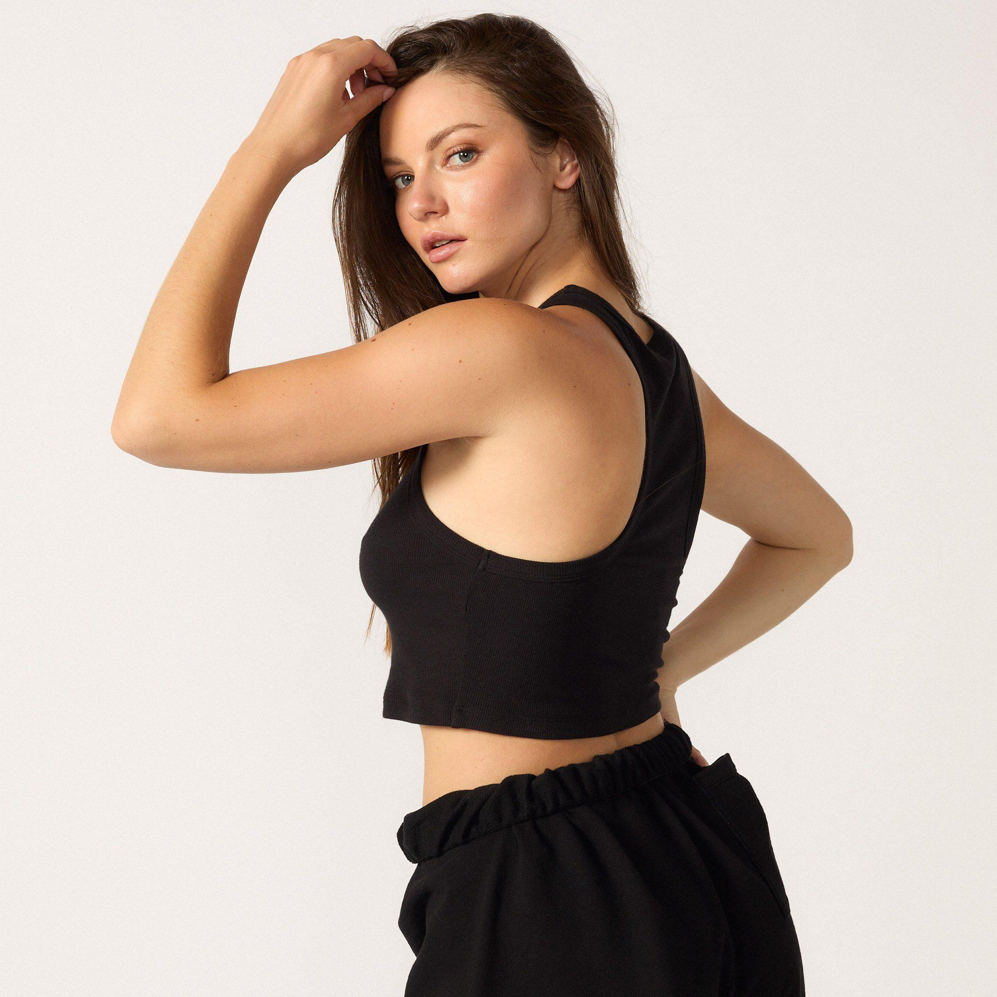 The Live-in Cropped Rib Tank 2