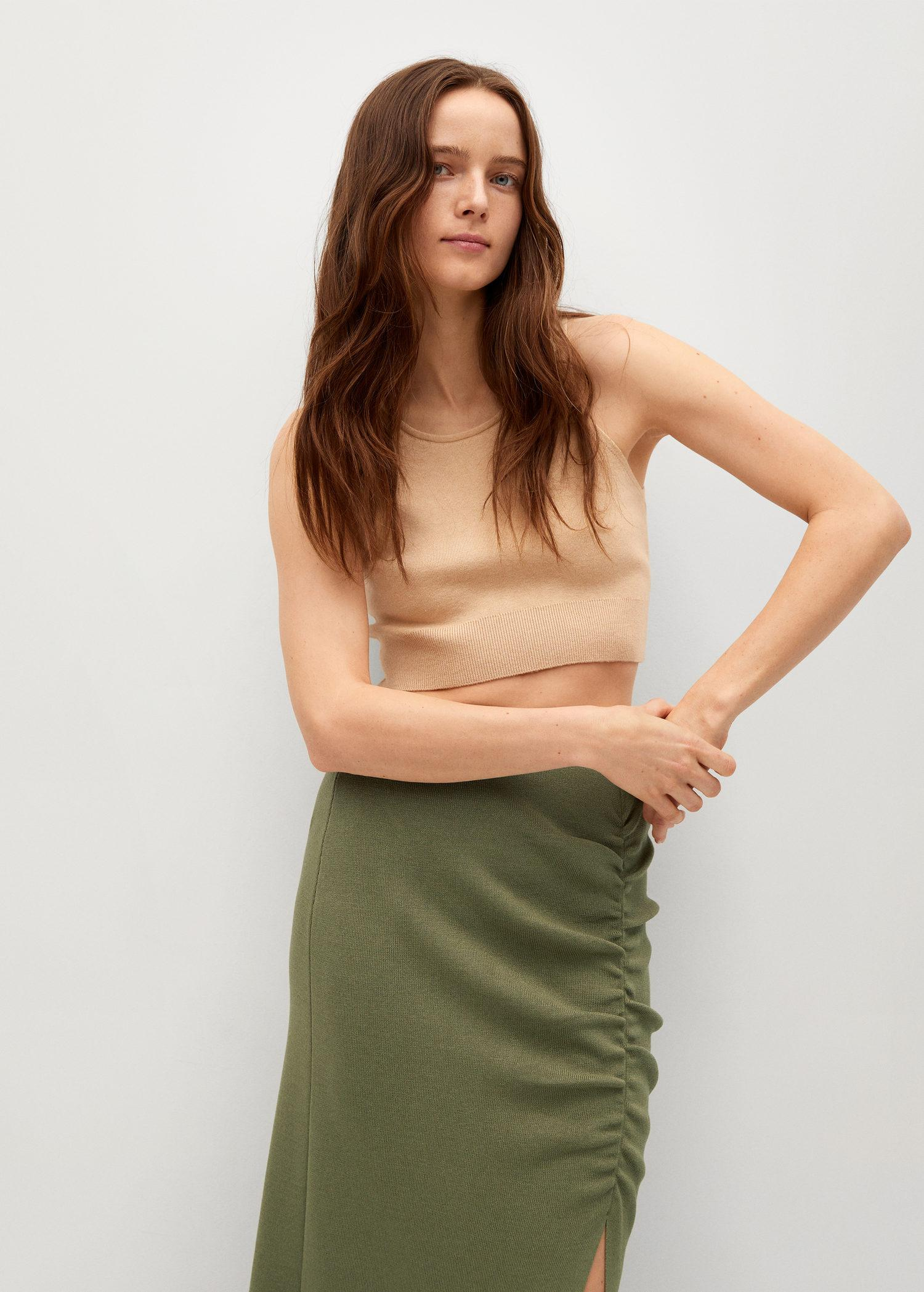 Ruched detail skirt 3