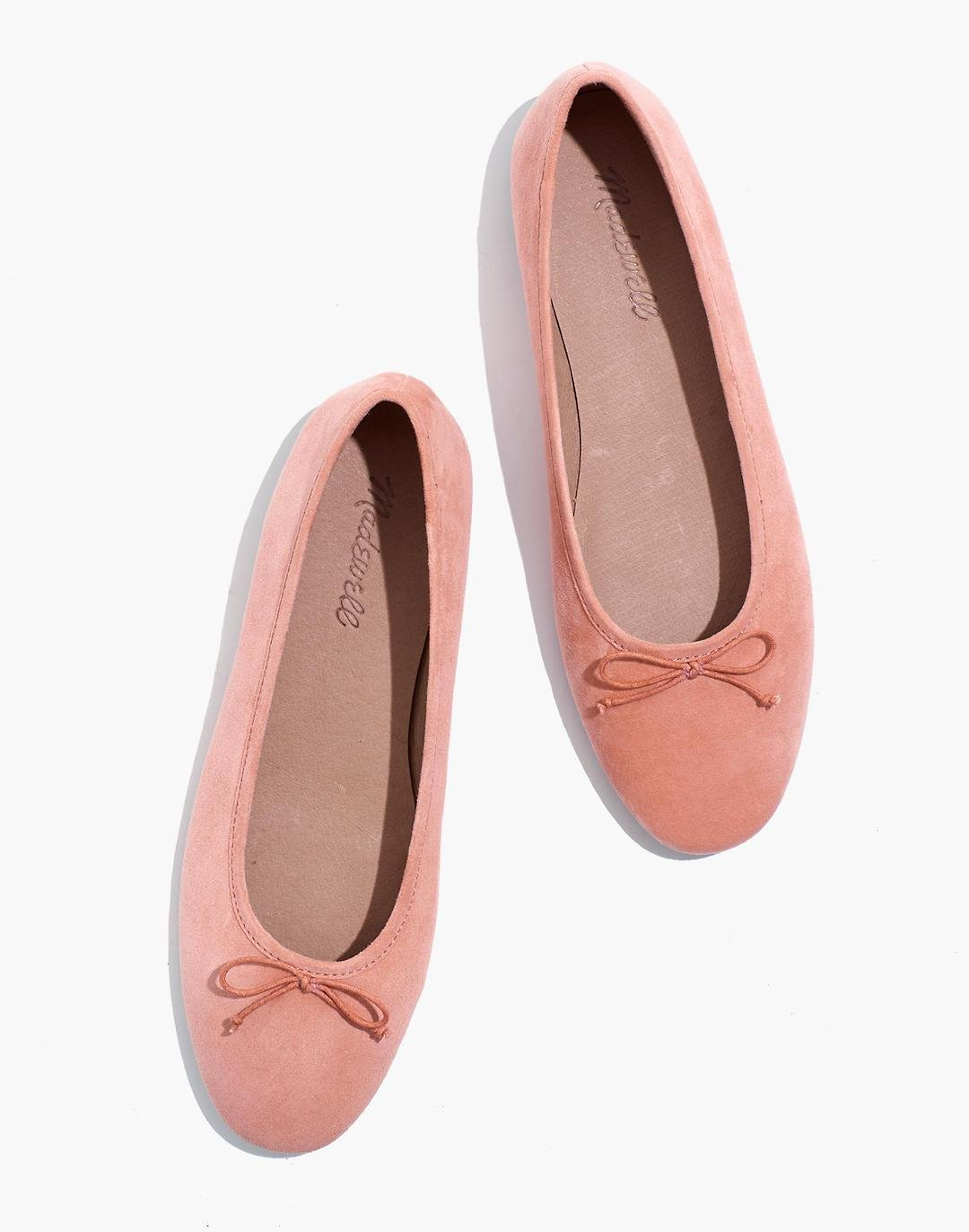 The Adelle Ballet Flat in Suede