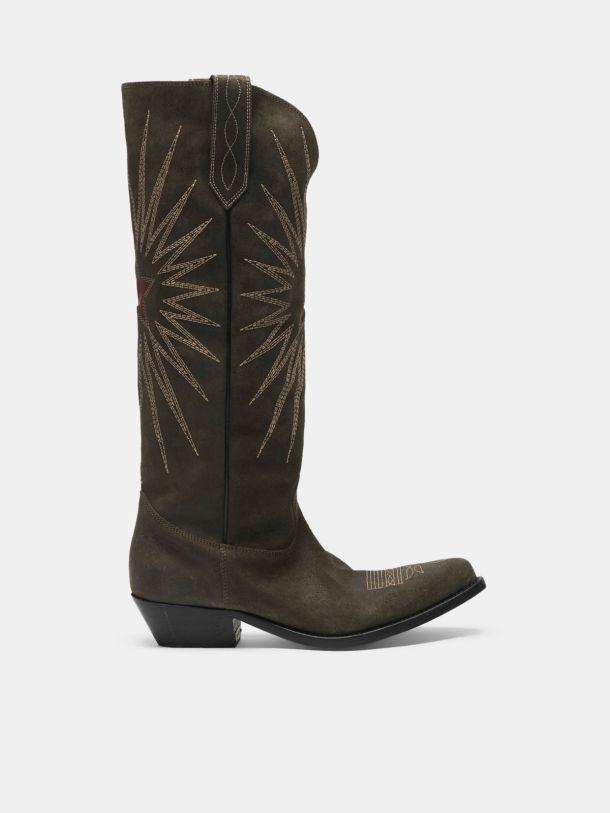 Wish Star boots in leather with Western decoration