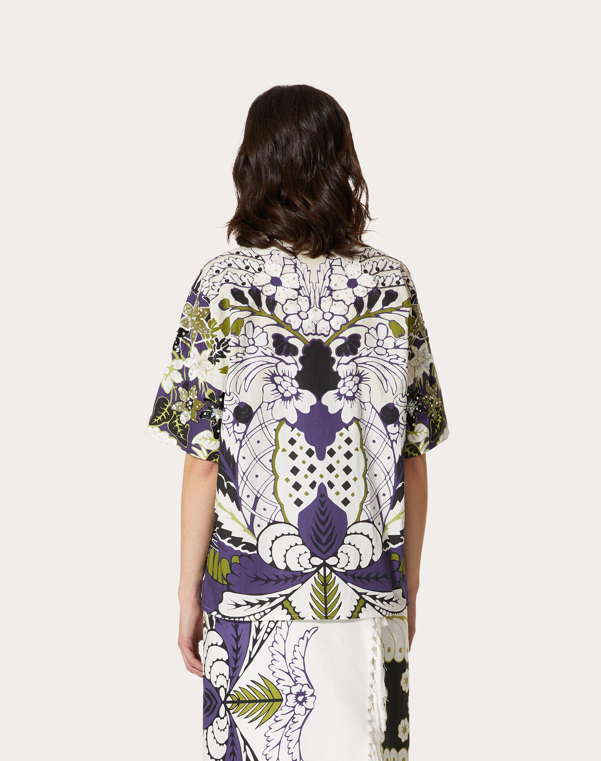 PRINTED AND EMBROIDERED POPLIN BOWLING SHIRT 2
