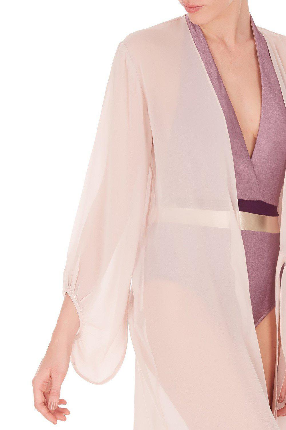 Fig Solid Long Robe 5