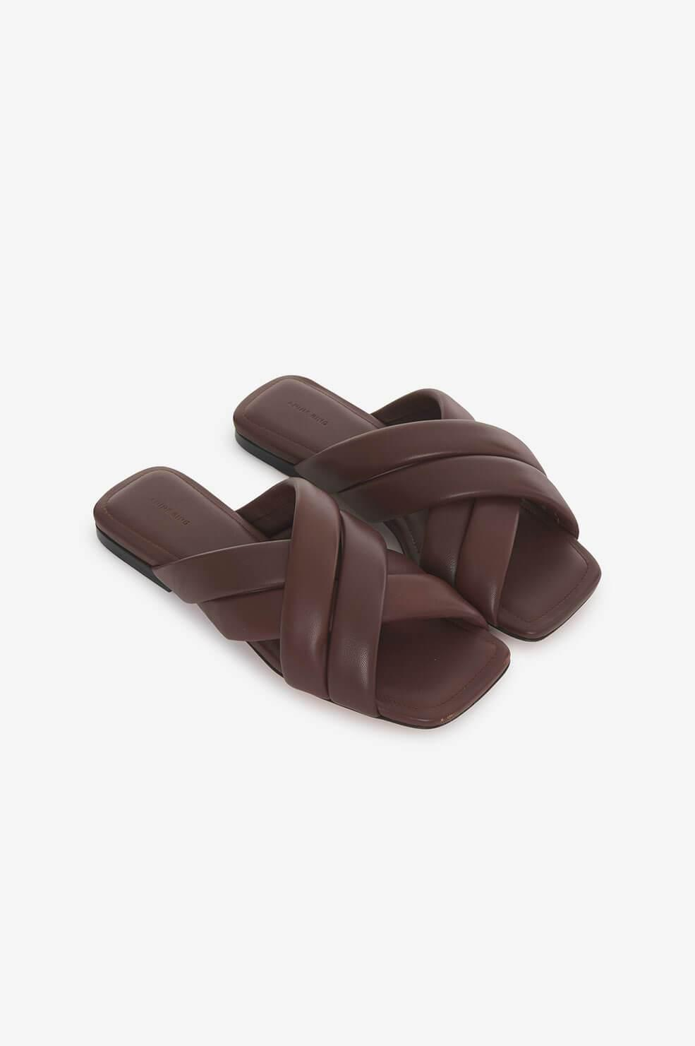 Eve Sandals - Chocolate Brown 1