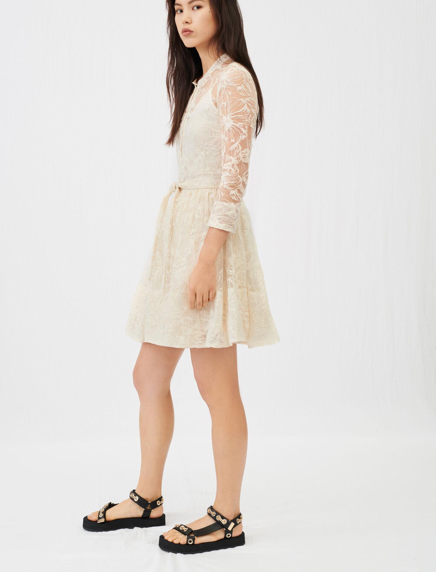 BELTED LACE DRESS 3
