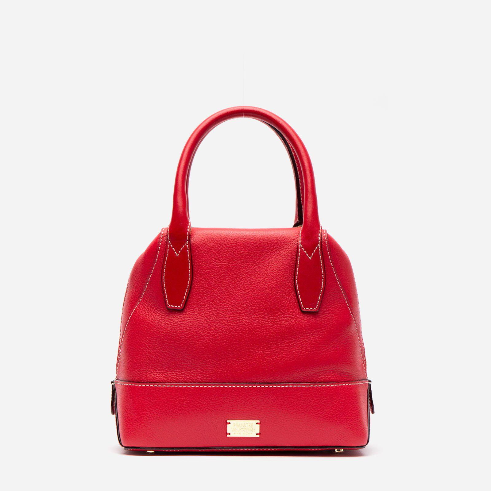 Small Abby Tote Tumbled Leather Red