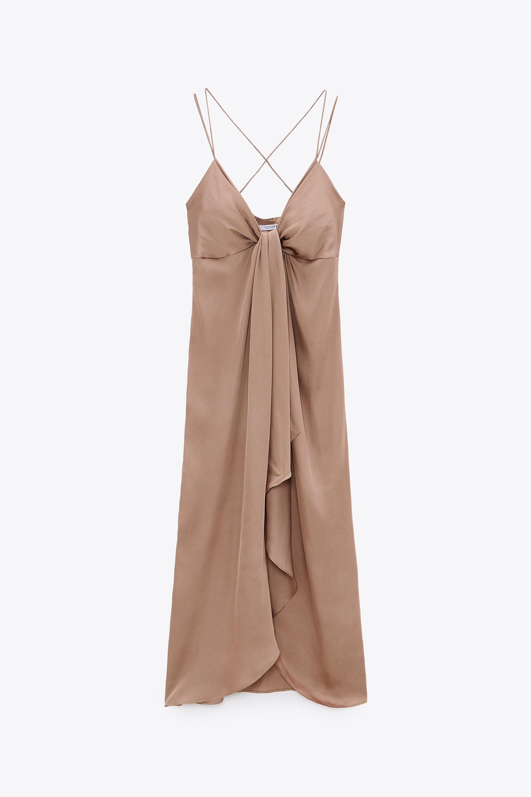 KNOTTED SLIP DRESS 4