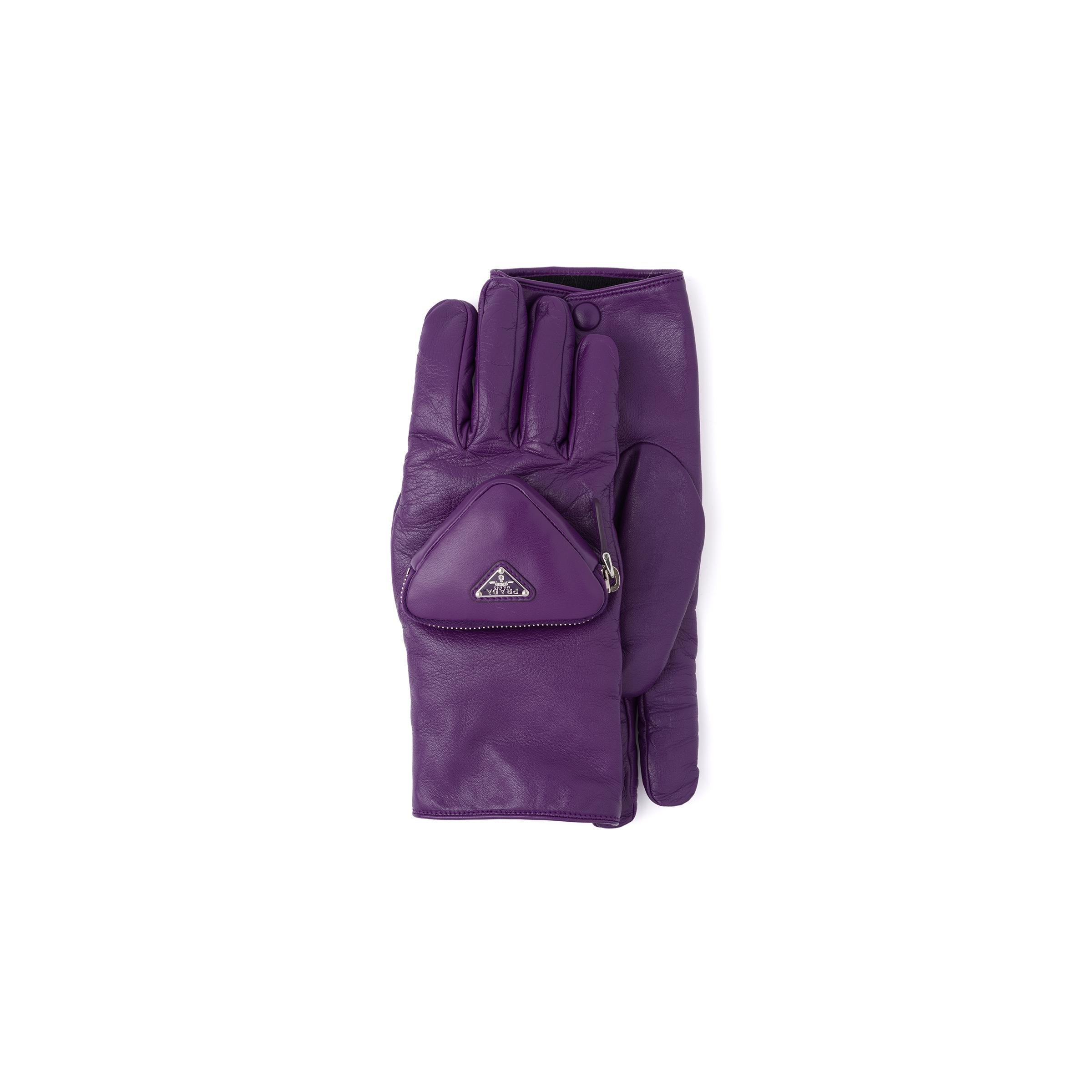 Nappa Leather Gloves With Pouch Women Cyclamen
