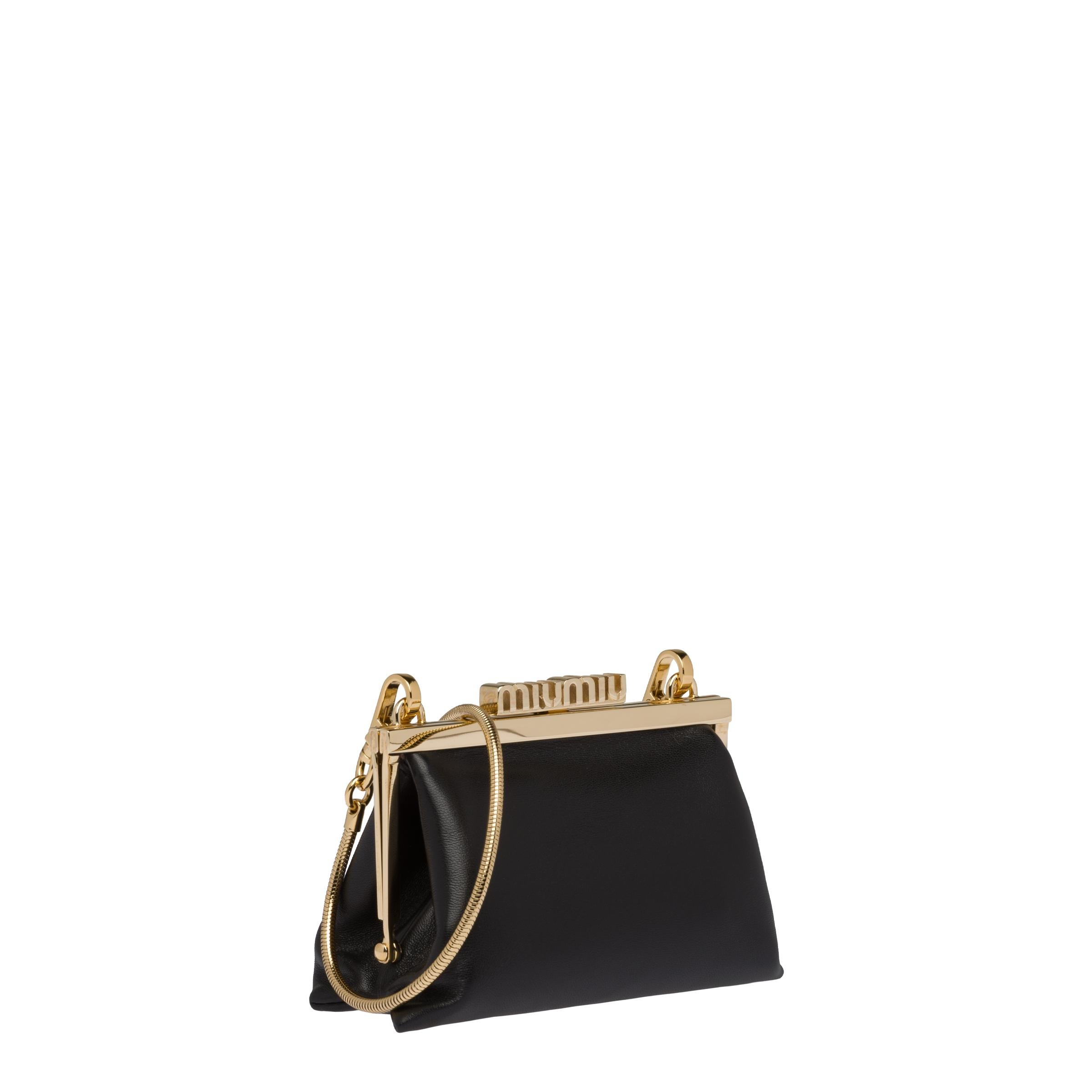Nappa Leather Wallet With Shoulder Strap Women Black 2