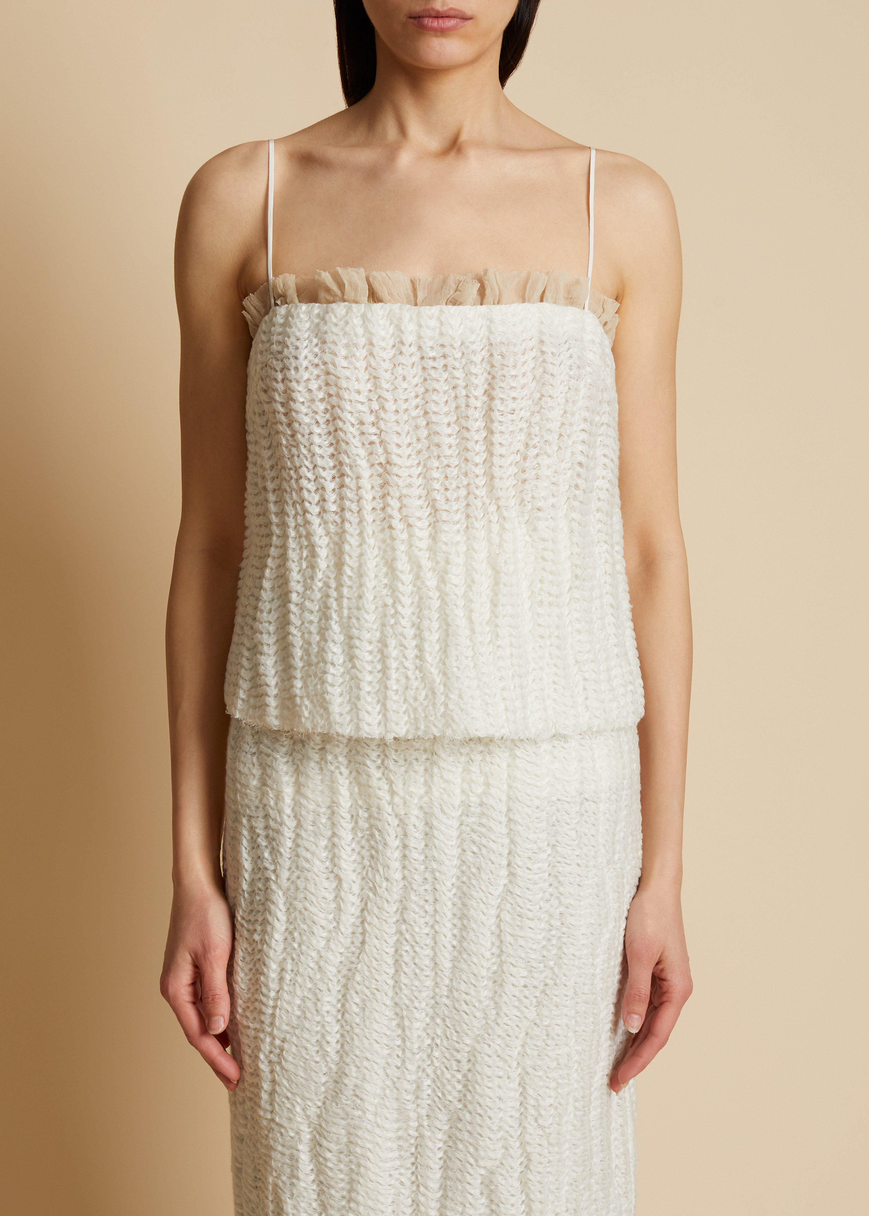 The Susanna Tank in Ivory