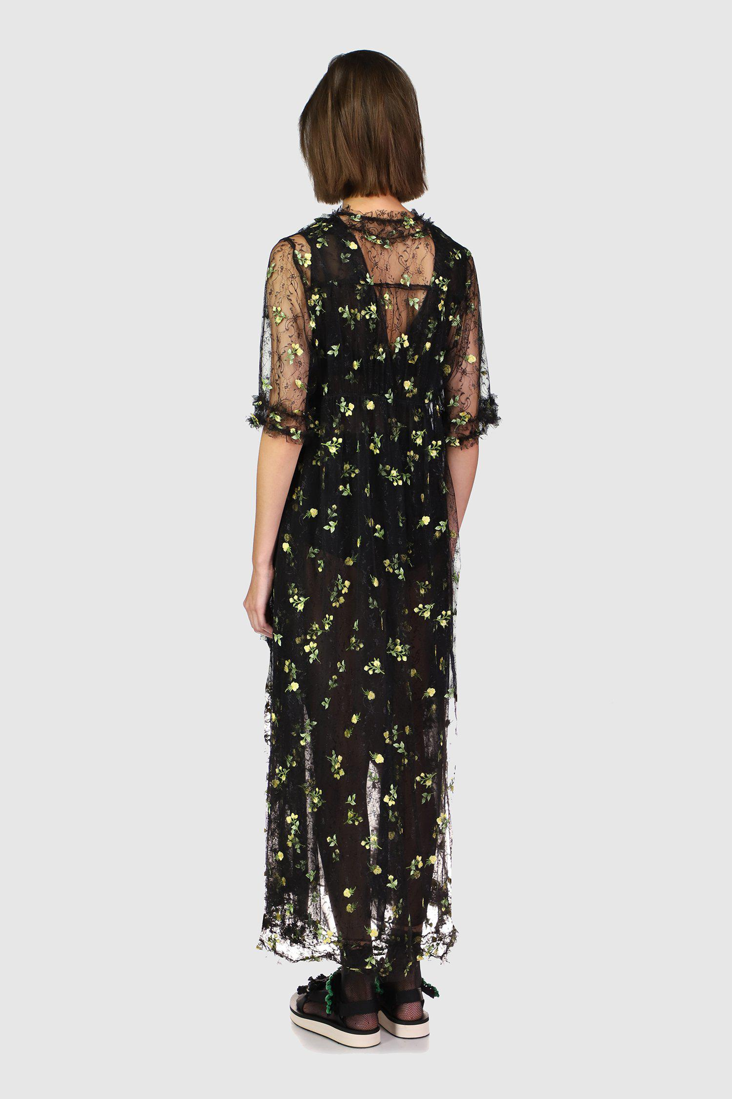 Scattered Blooms Lace Duster 2