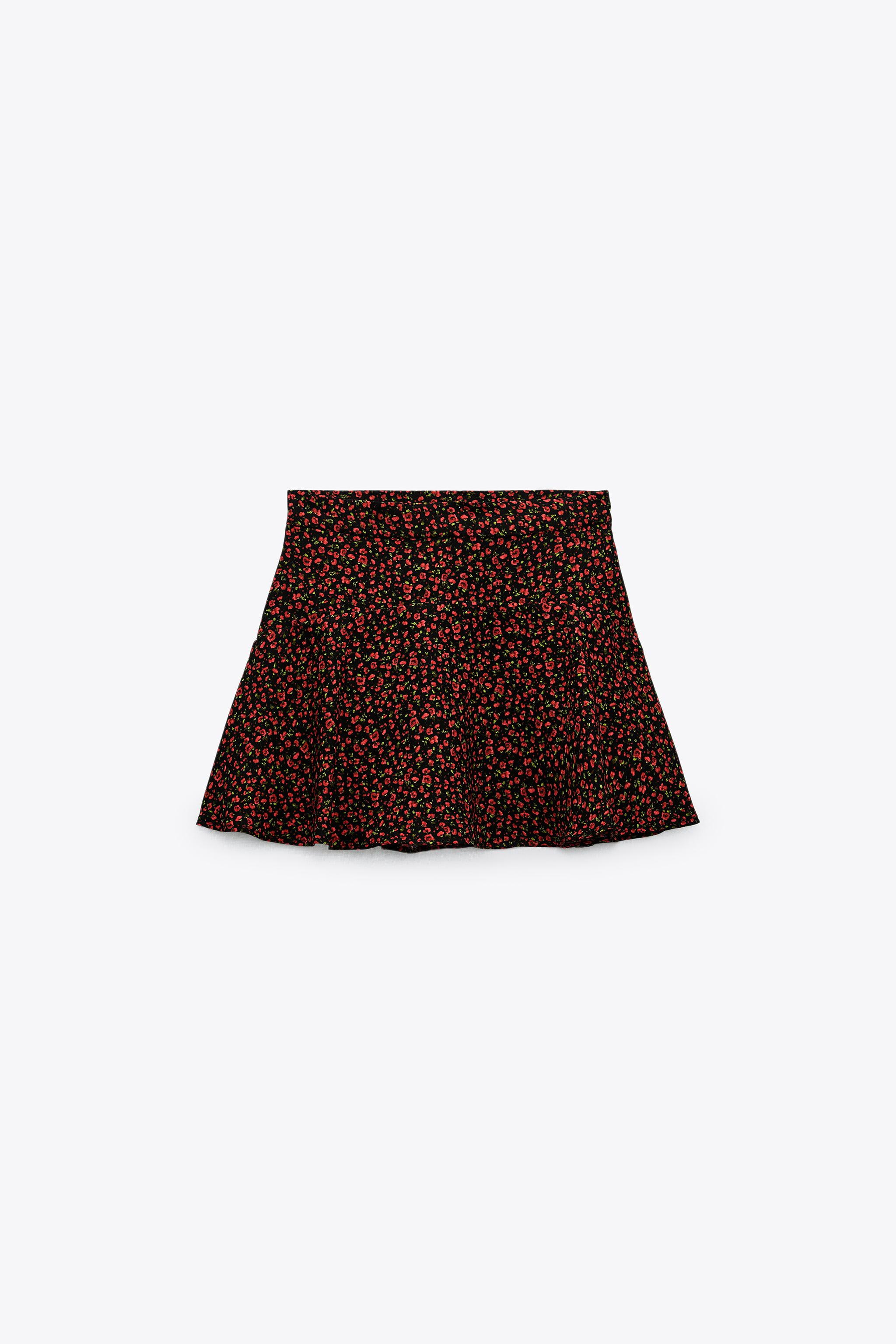 PRINT PANTS WITH SKIRT FRONT 5