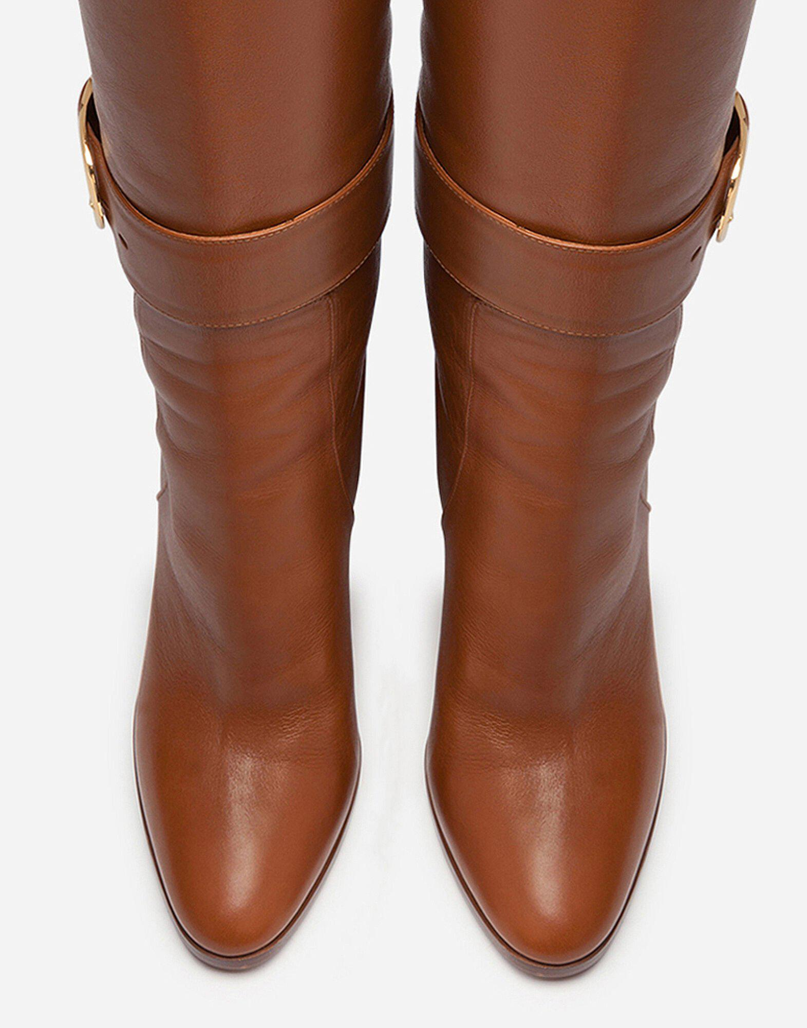Boots in foulard calfskin with decorative buckle 3