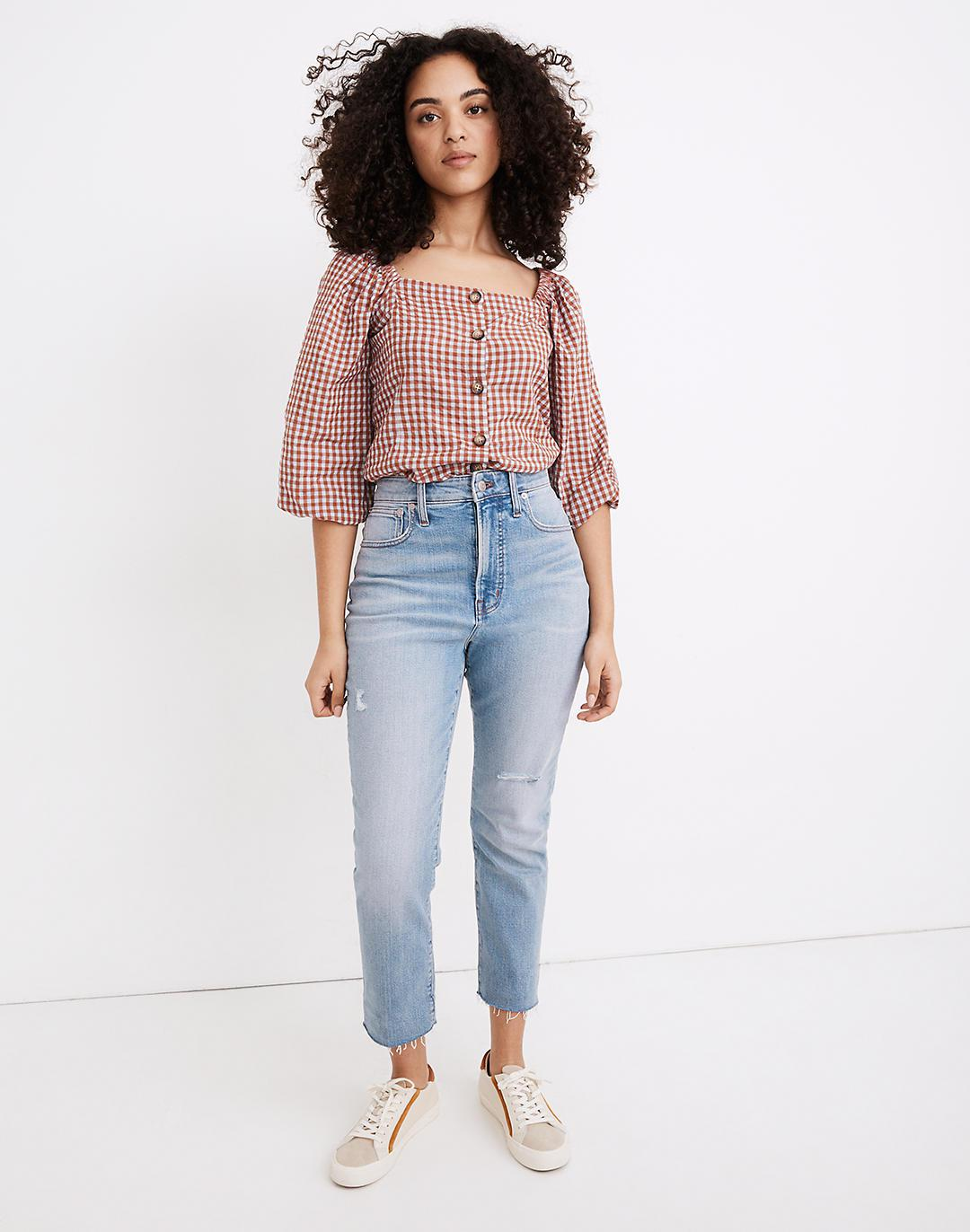 The Tall Curvy Perfect Vintage Jean in Coffey Wash: Worn-In Edition
