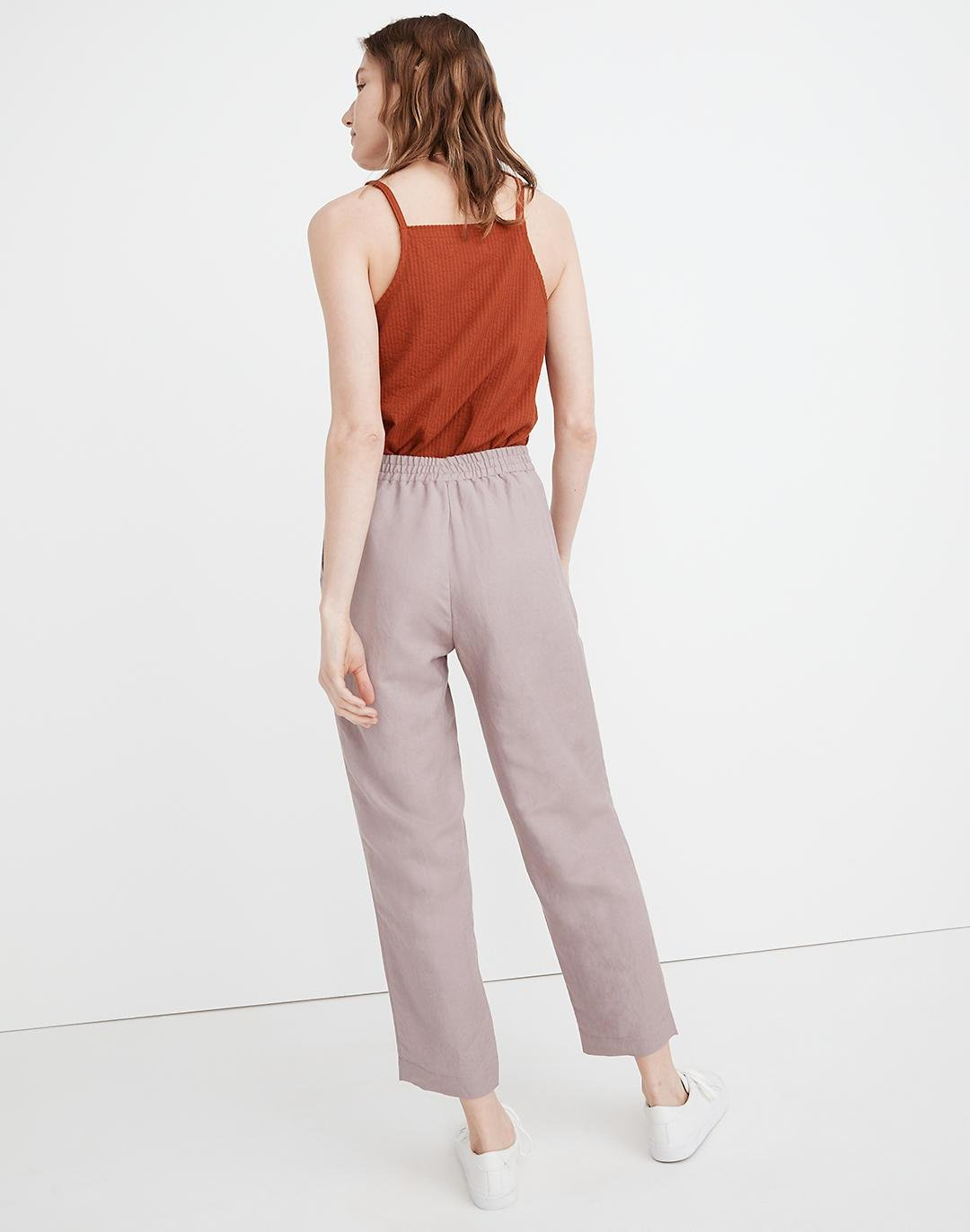 Linen-Blend Track Trousers 2