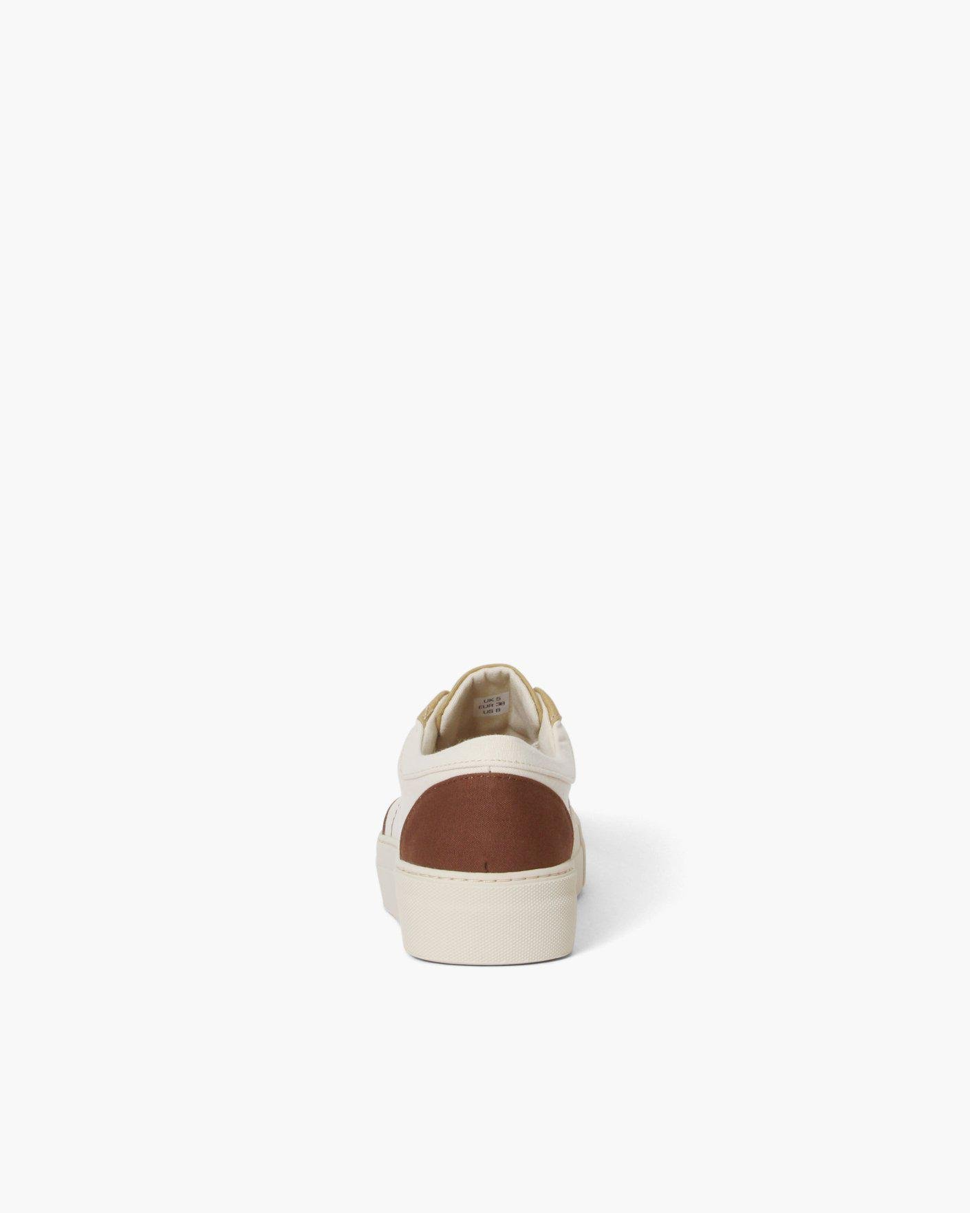 Bailey Sneakers Cotton Canvas Coffee - SALE 2