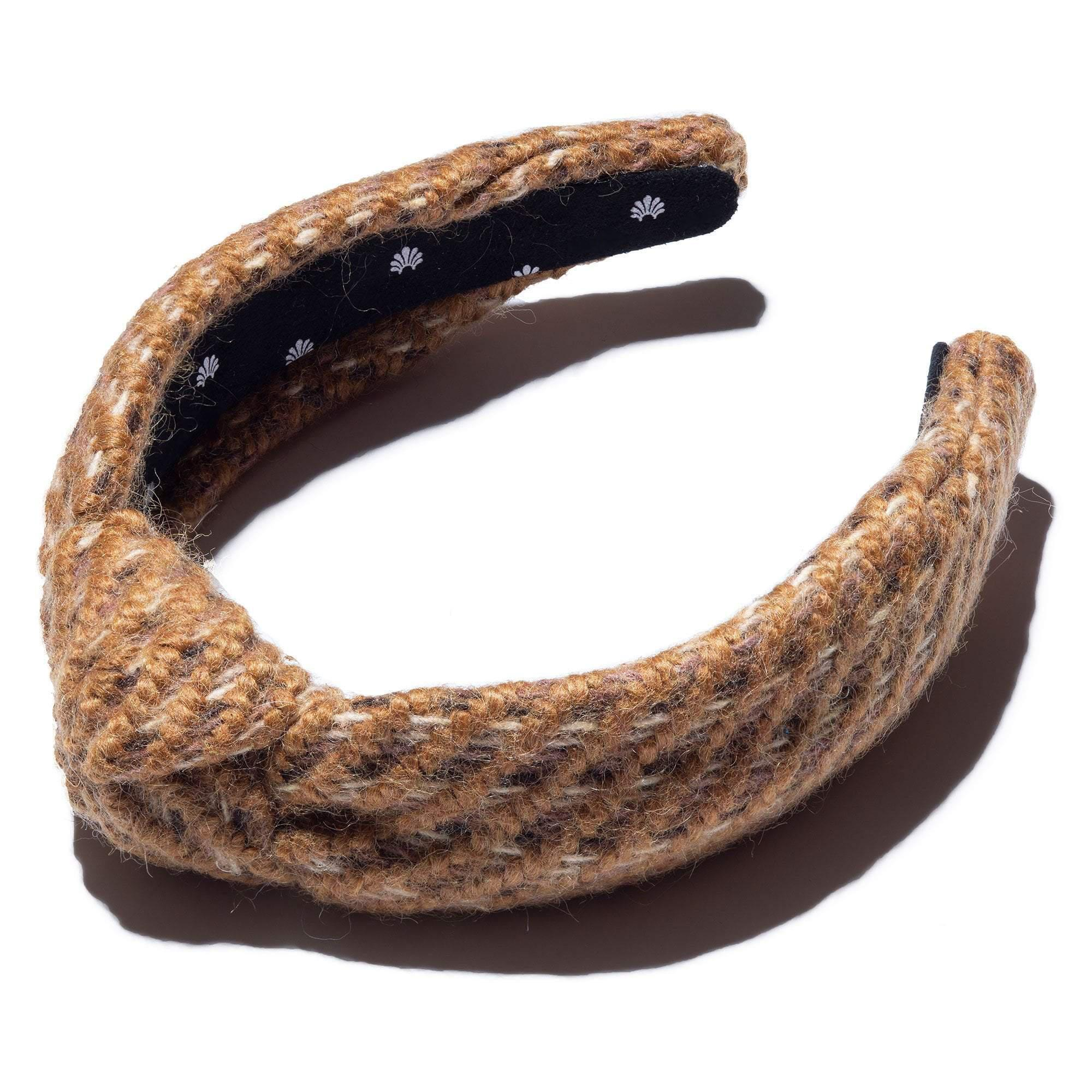 CAMEL KNITTED KNOTTED HEADBAND