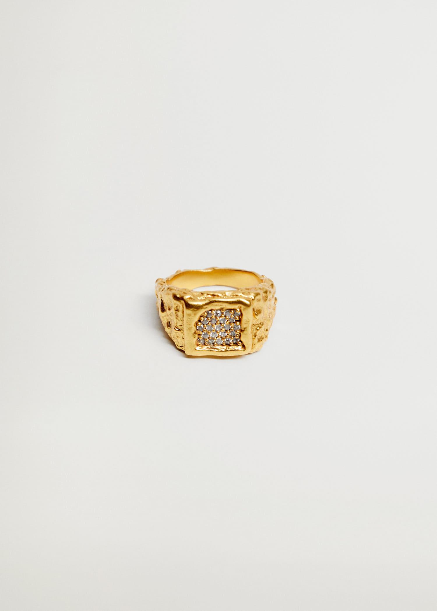 Textured embossed ring