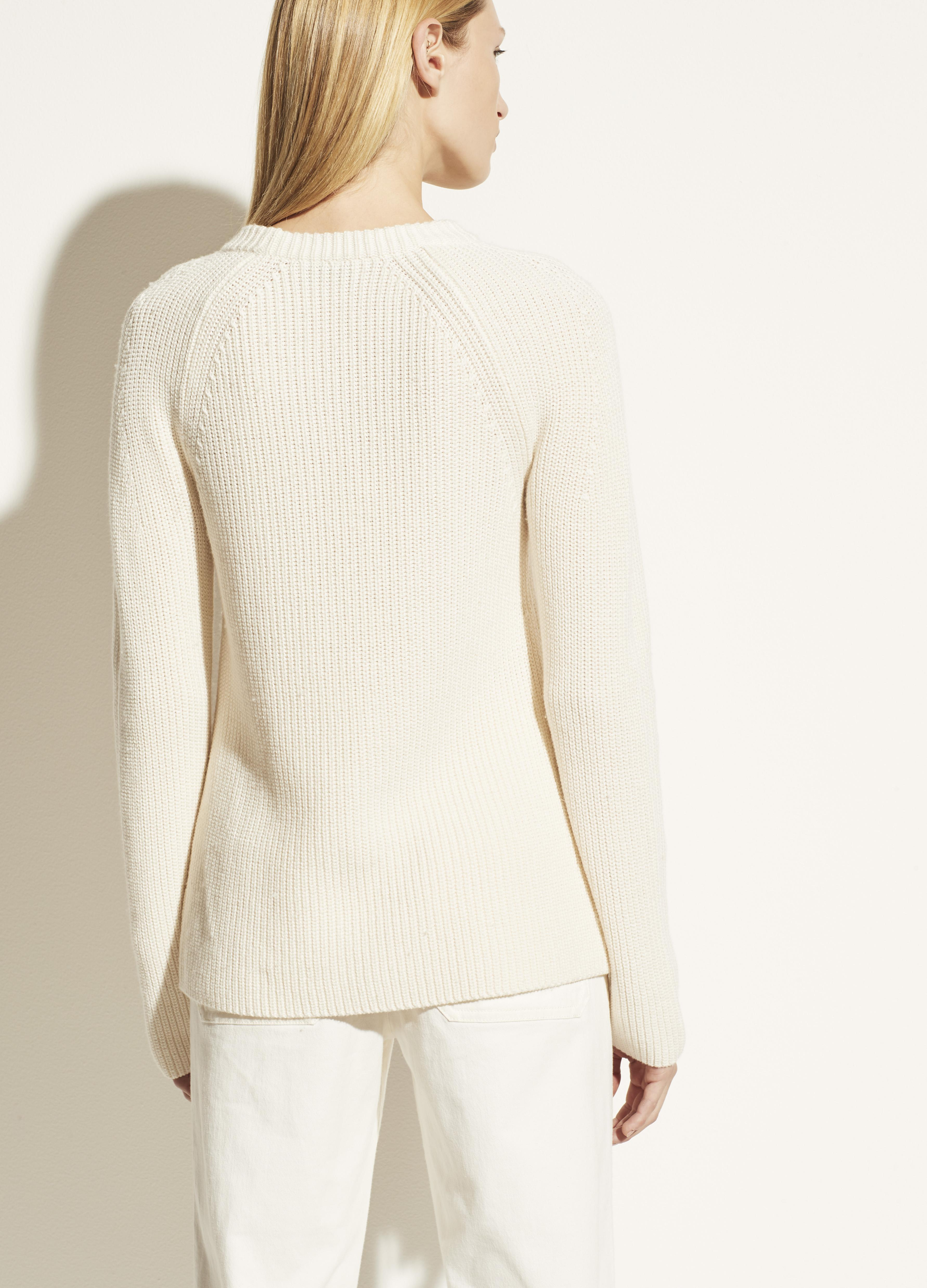 Ribbed Cotton Cashmere Crew 2