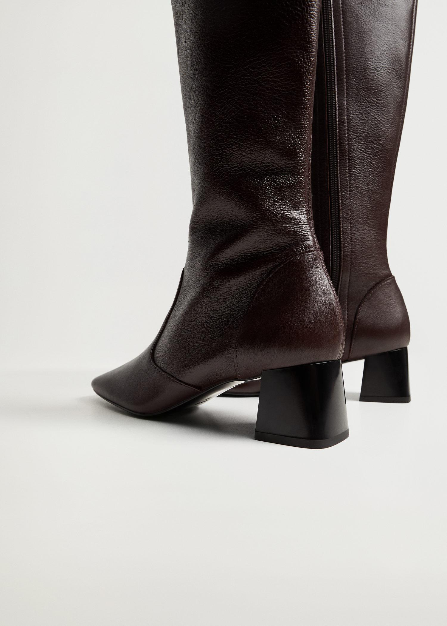 Leather boots with tall leg 4