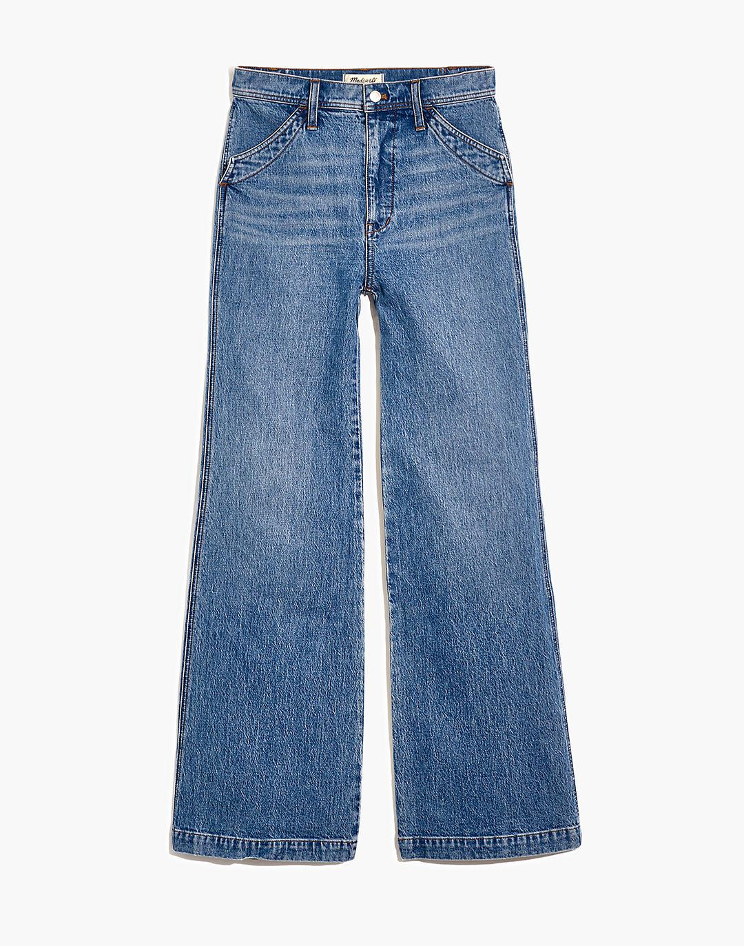 """11"""" High-Rise Flare Jeans in Erickson Wash: Stitched-Pocket Edition 4"""