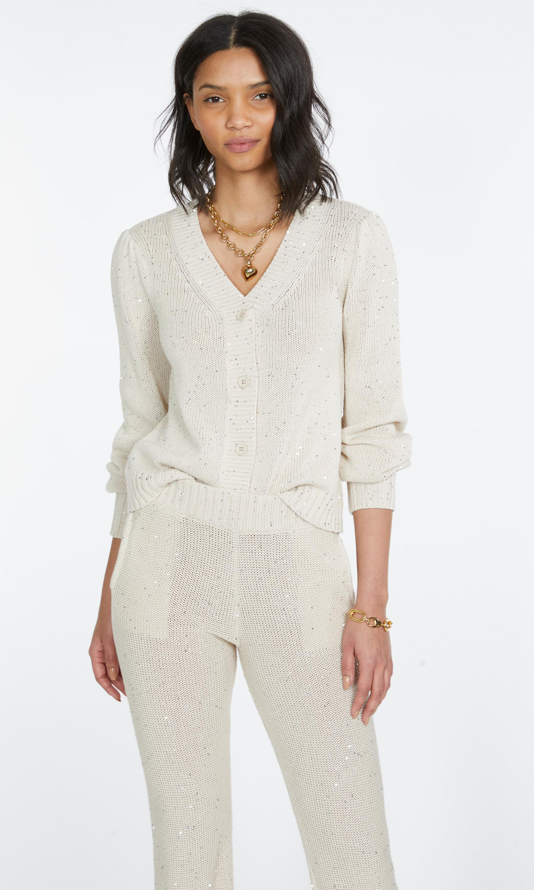 Lowell Sequin Knitted Cardigan