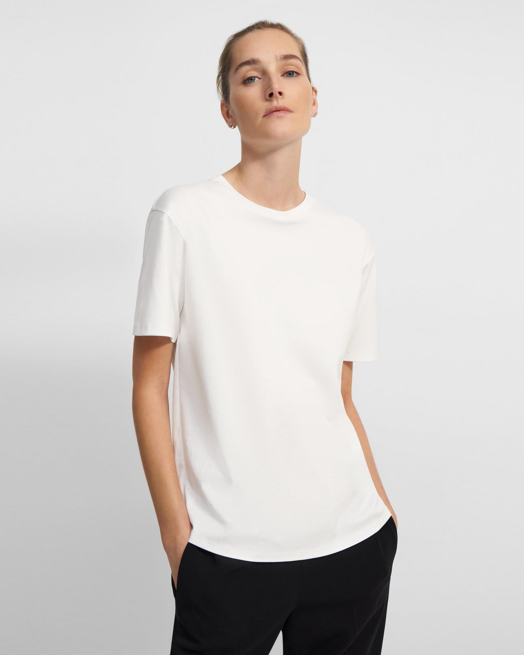 Short-Sleeve Perfect Tee in Cotton Jersey 0