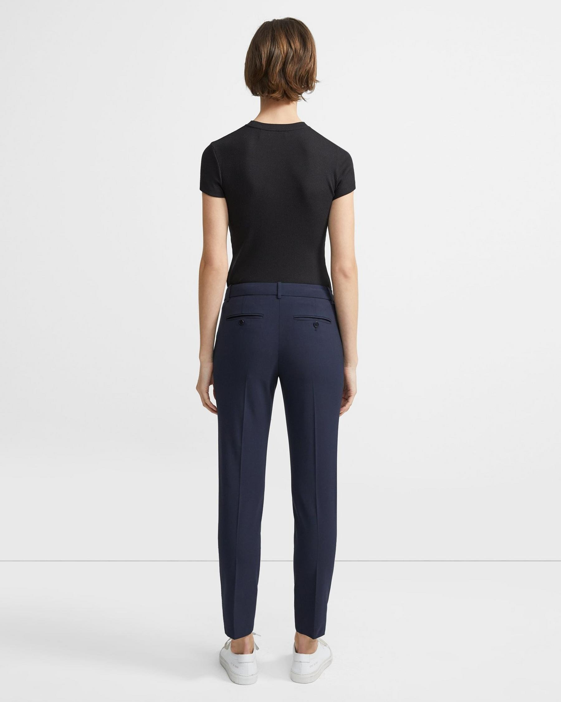 Classic Cropped Pant in Stretch Wool 1