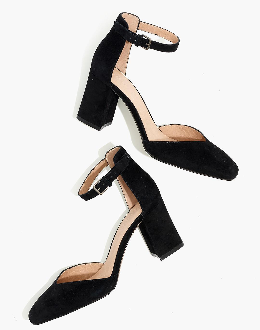 The Dove High-Heel Sandal in Suede 0