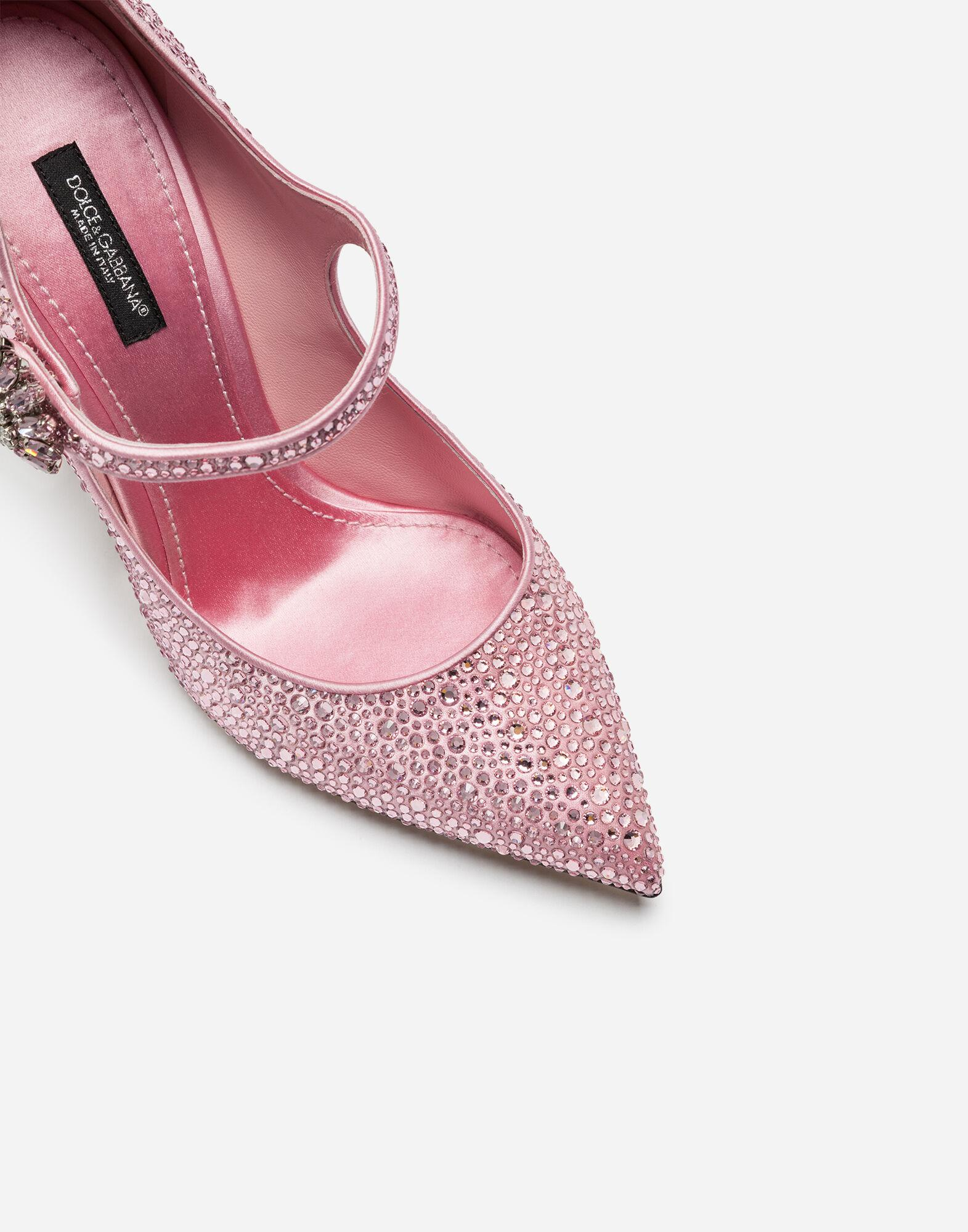 Satin Mary Janes with crystals 1