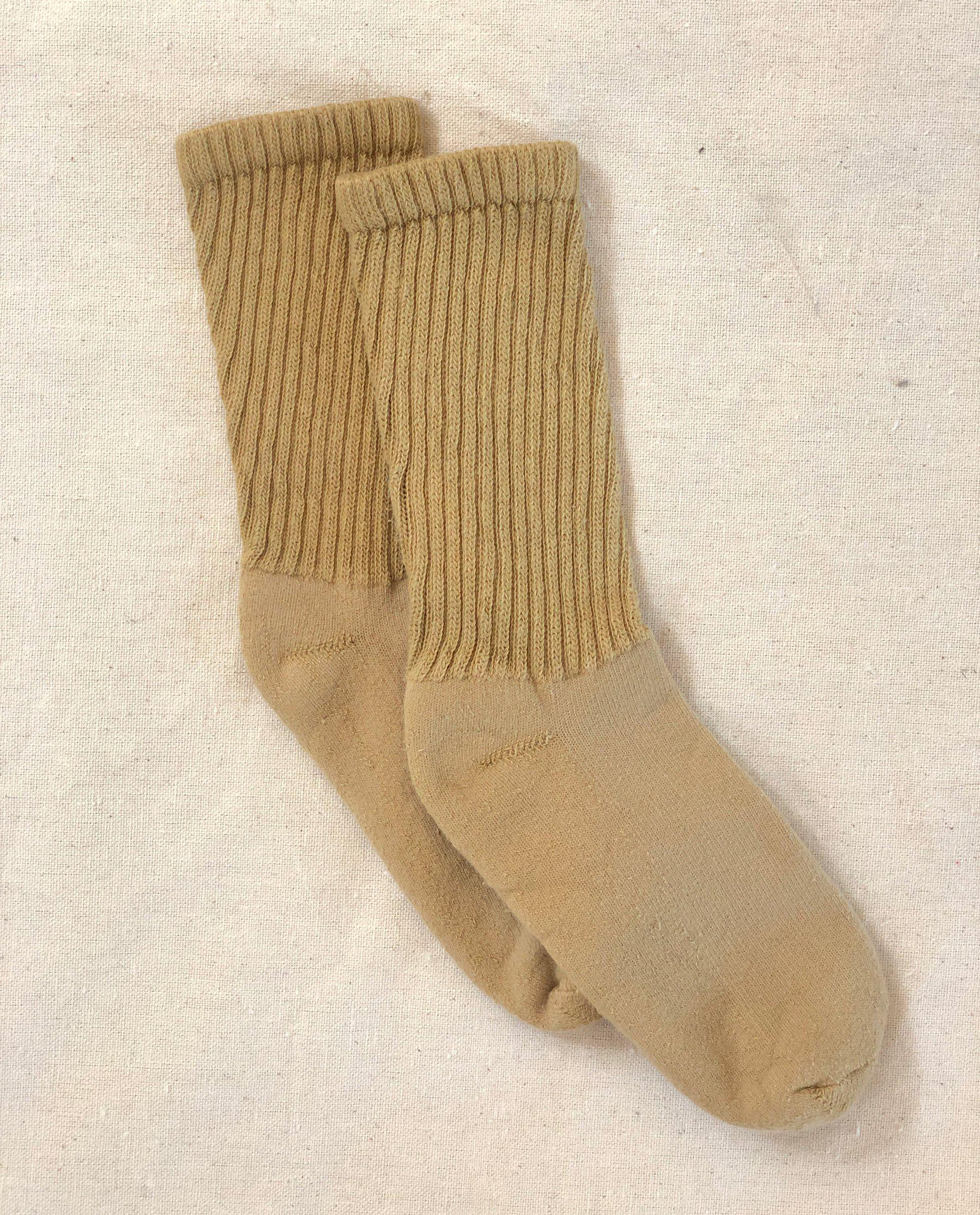 The Plant-Dyed Sock. -- Pomegranate Rind