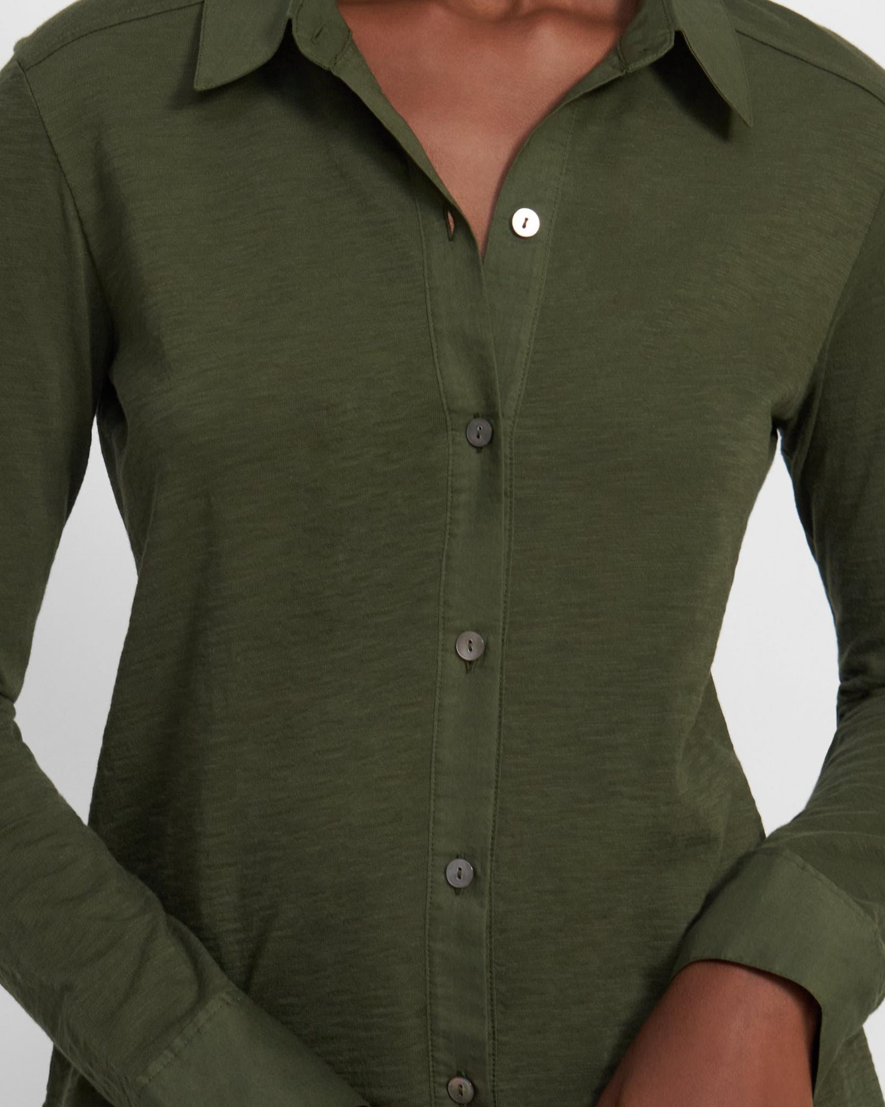 Button Up Shirt in Organic Cotton 1