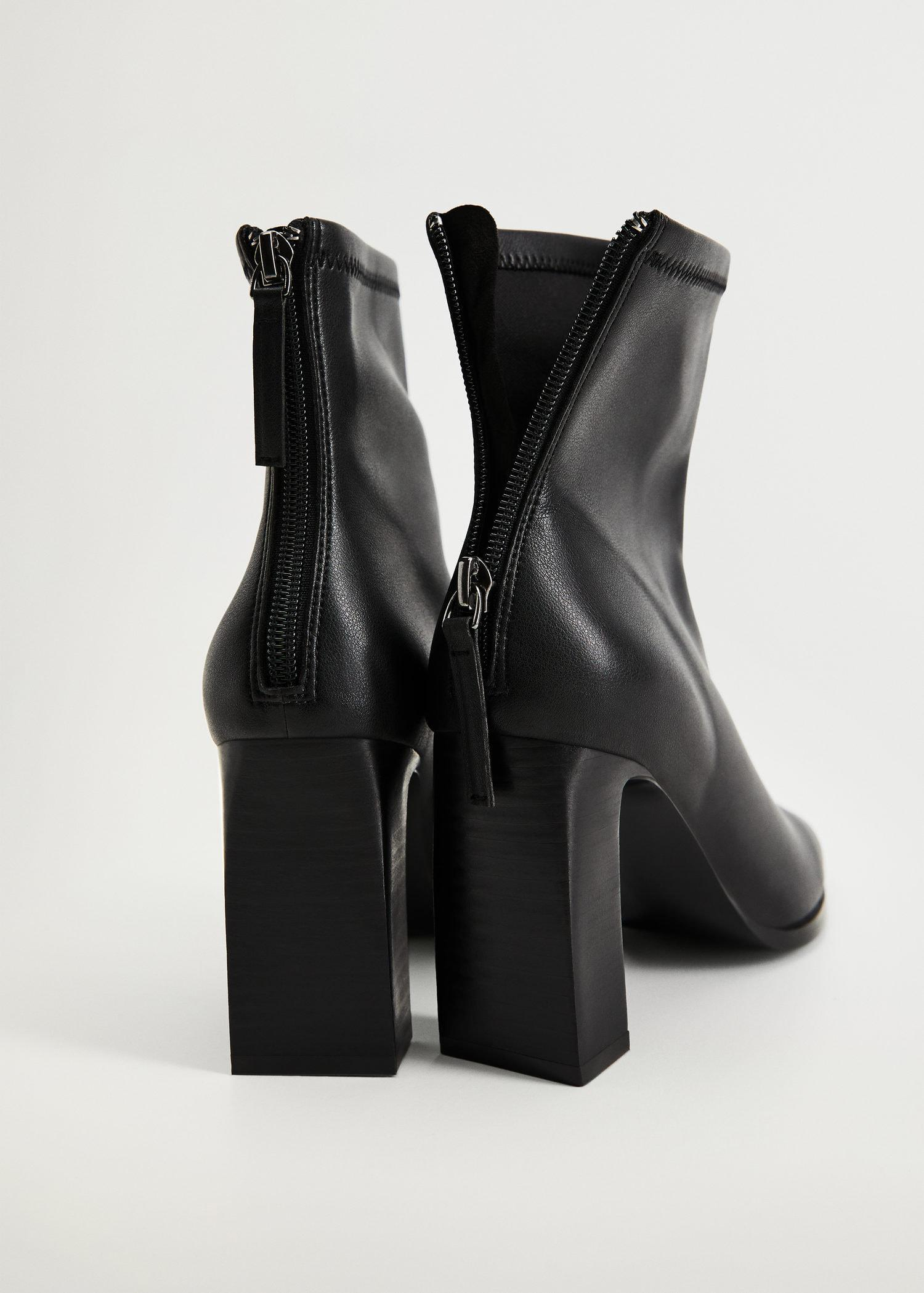 Elastic heeled ankle boot 2