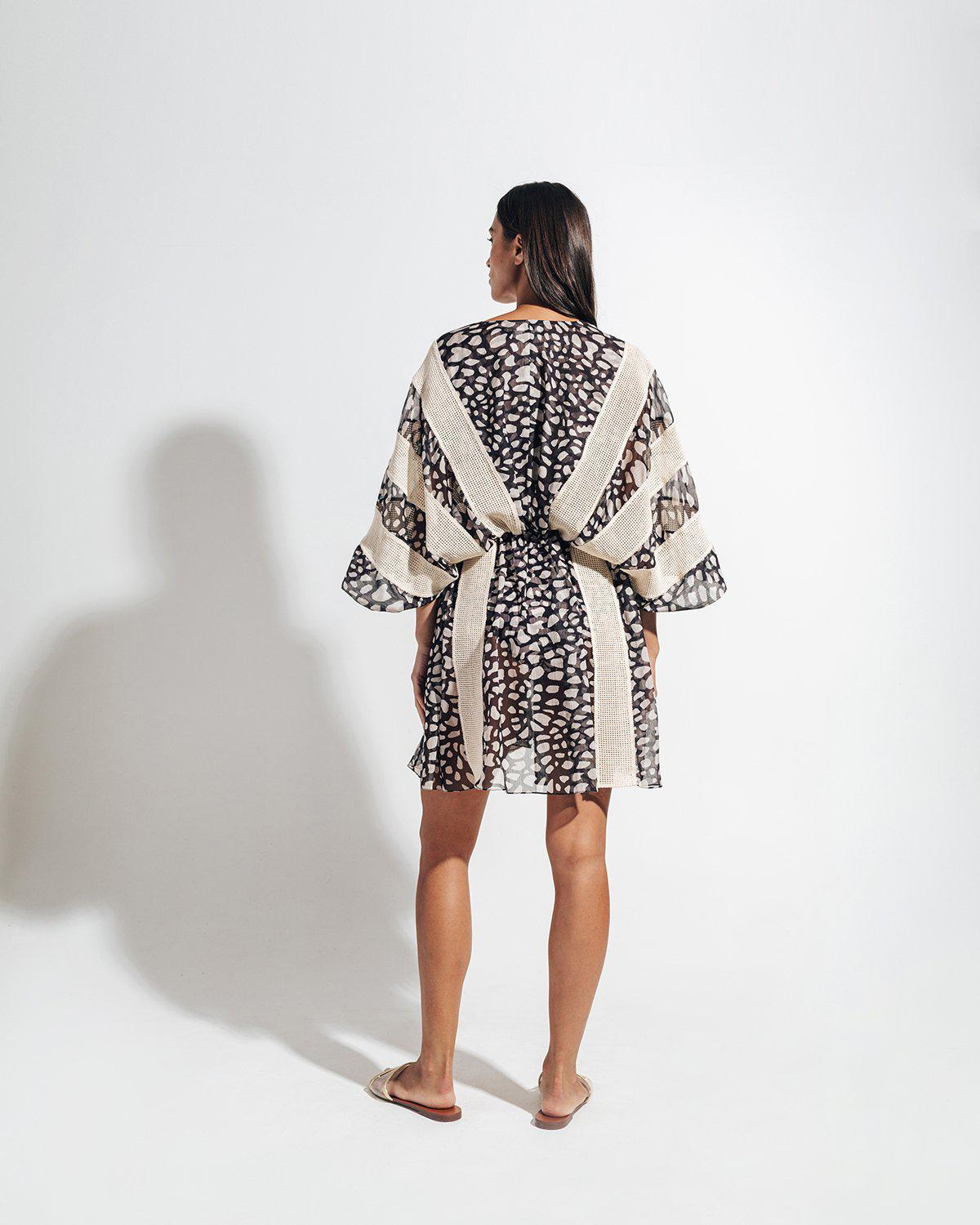SPOTTED LACE TRIM COVERUP 3