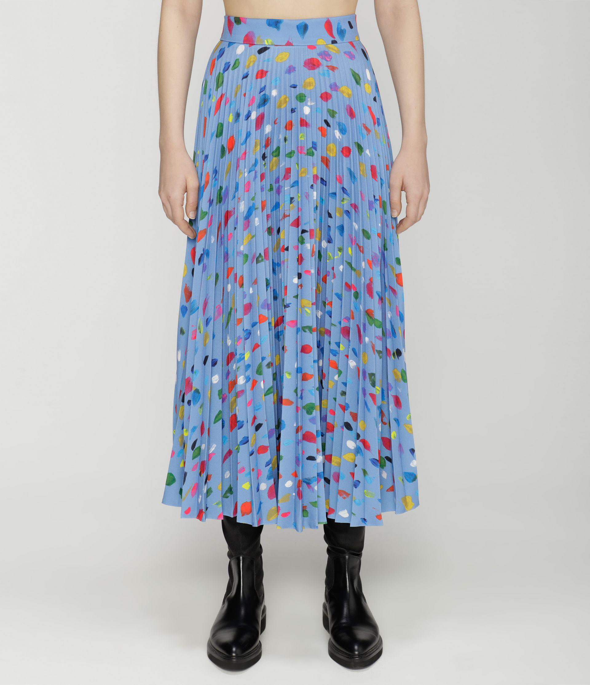 painted dots pleated skirt