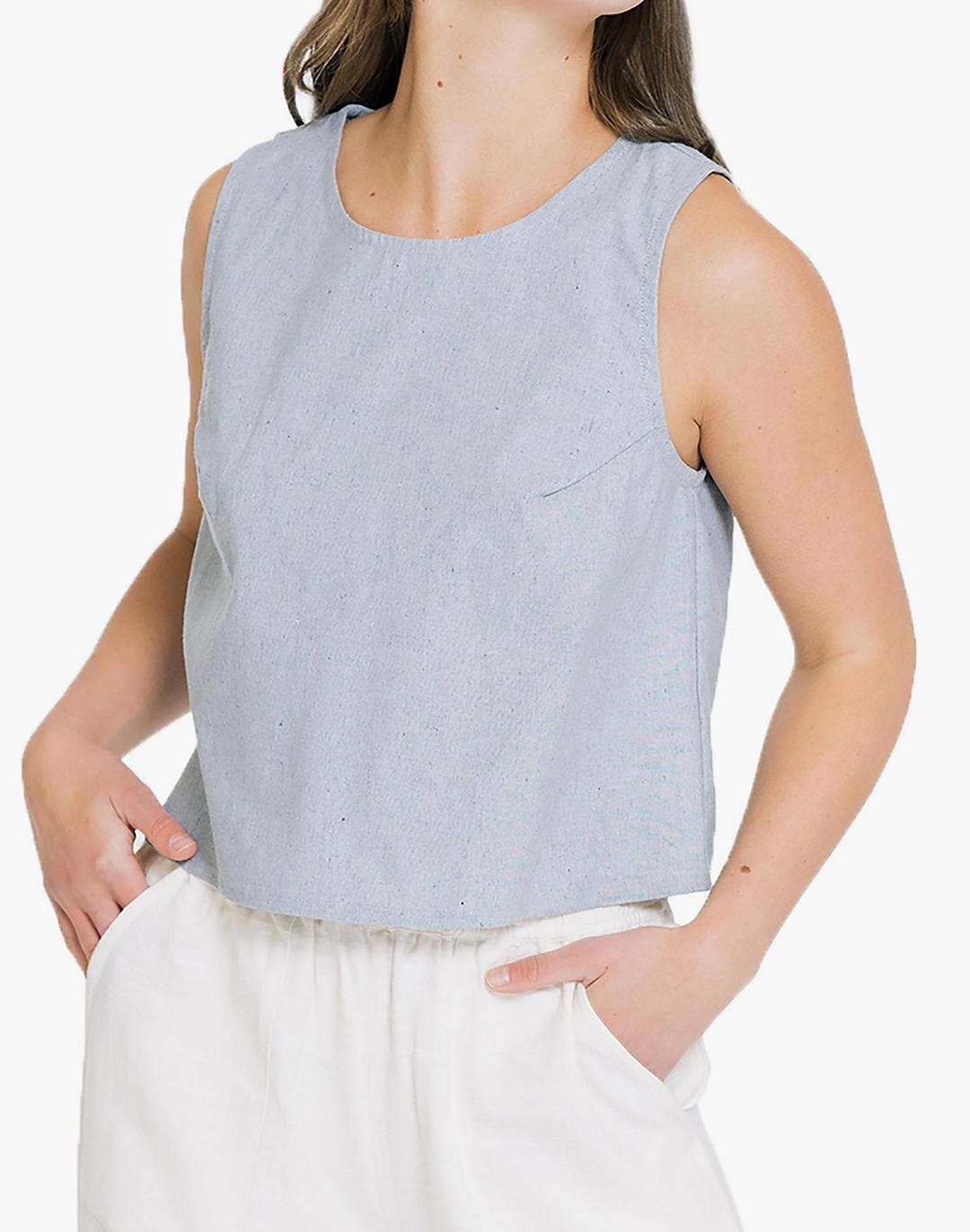 Madewell x LAUDE the Label Open-Back Tank Top