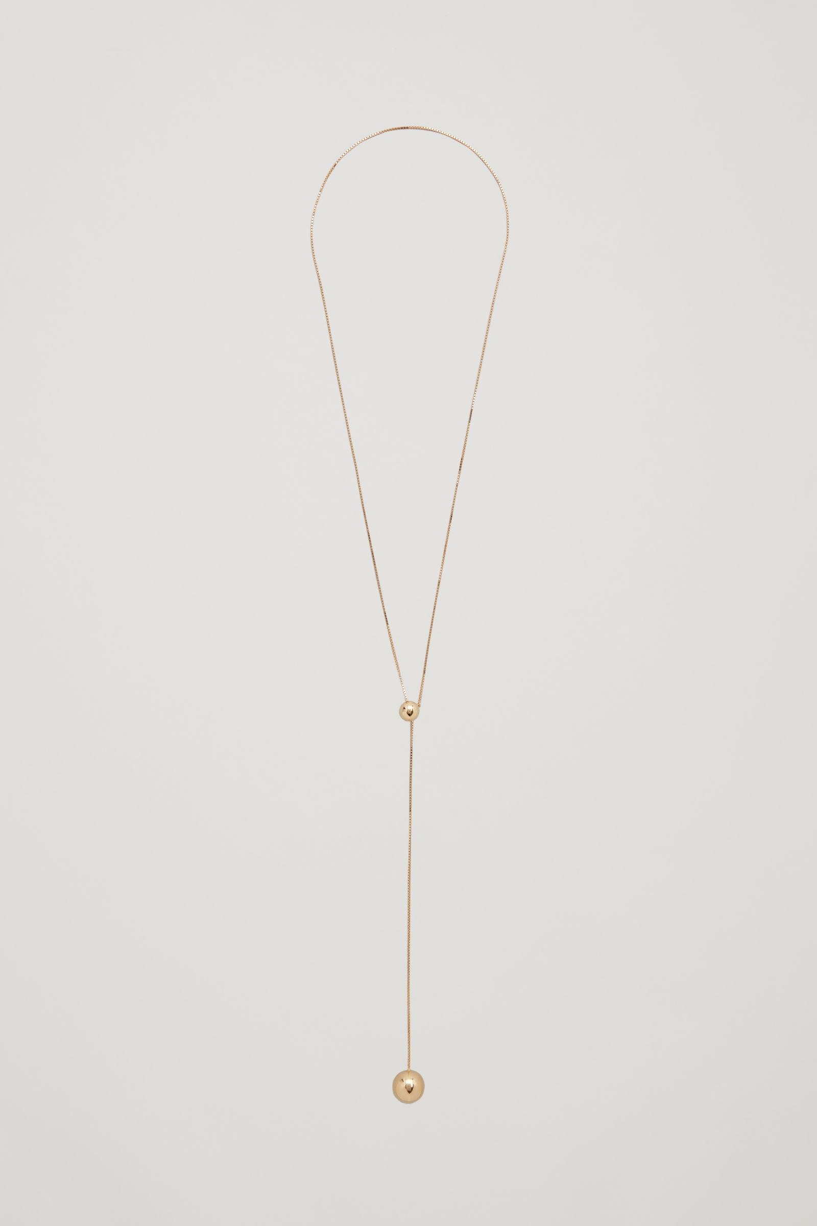 18KT GOLD PLATED BALL NECKLACE