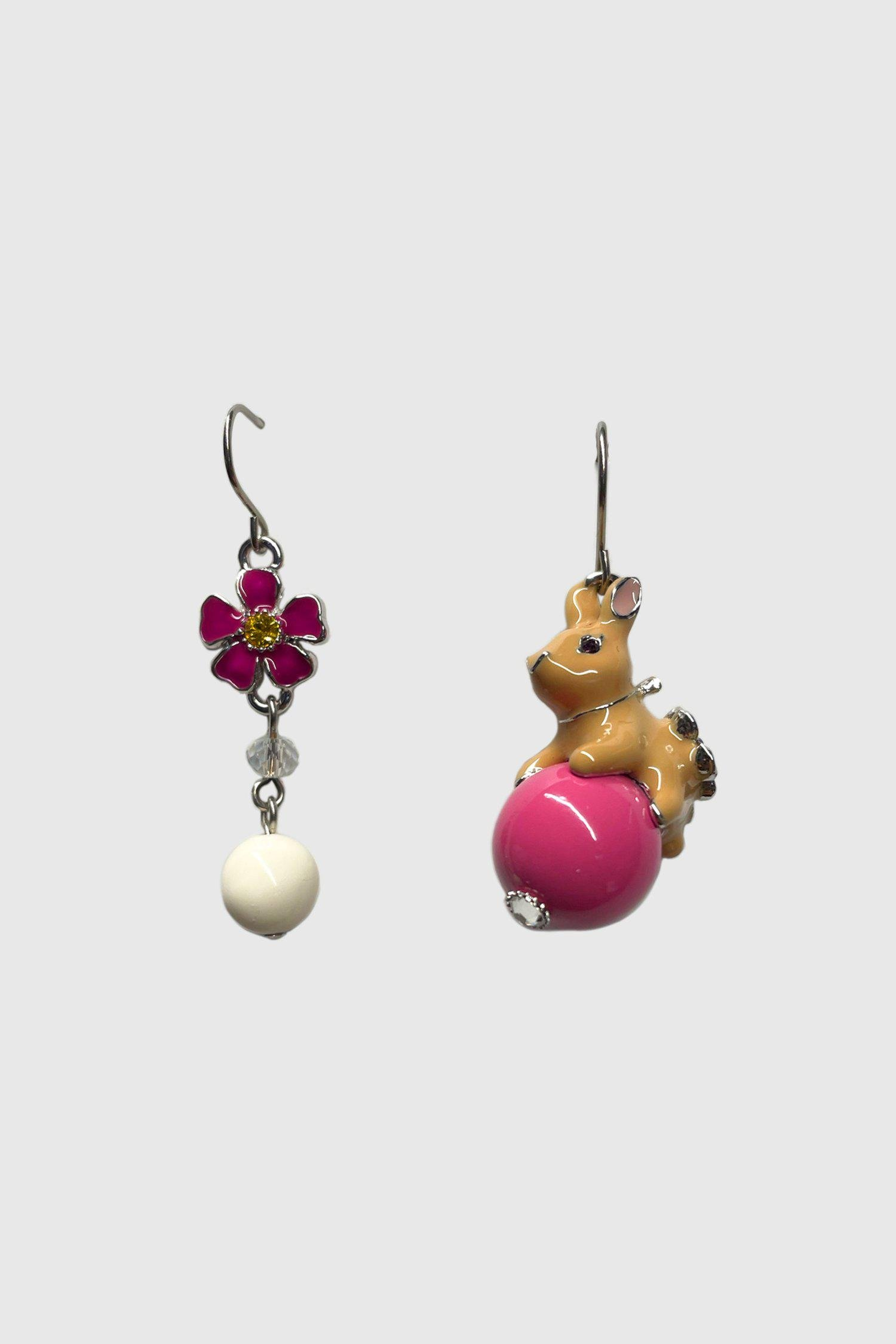 Bouncing Bunny Mismatched Earrings