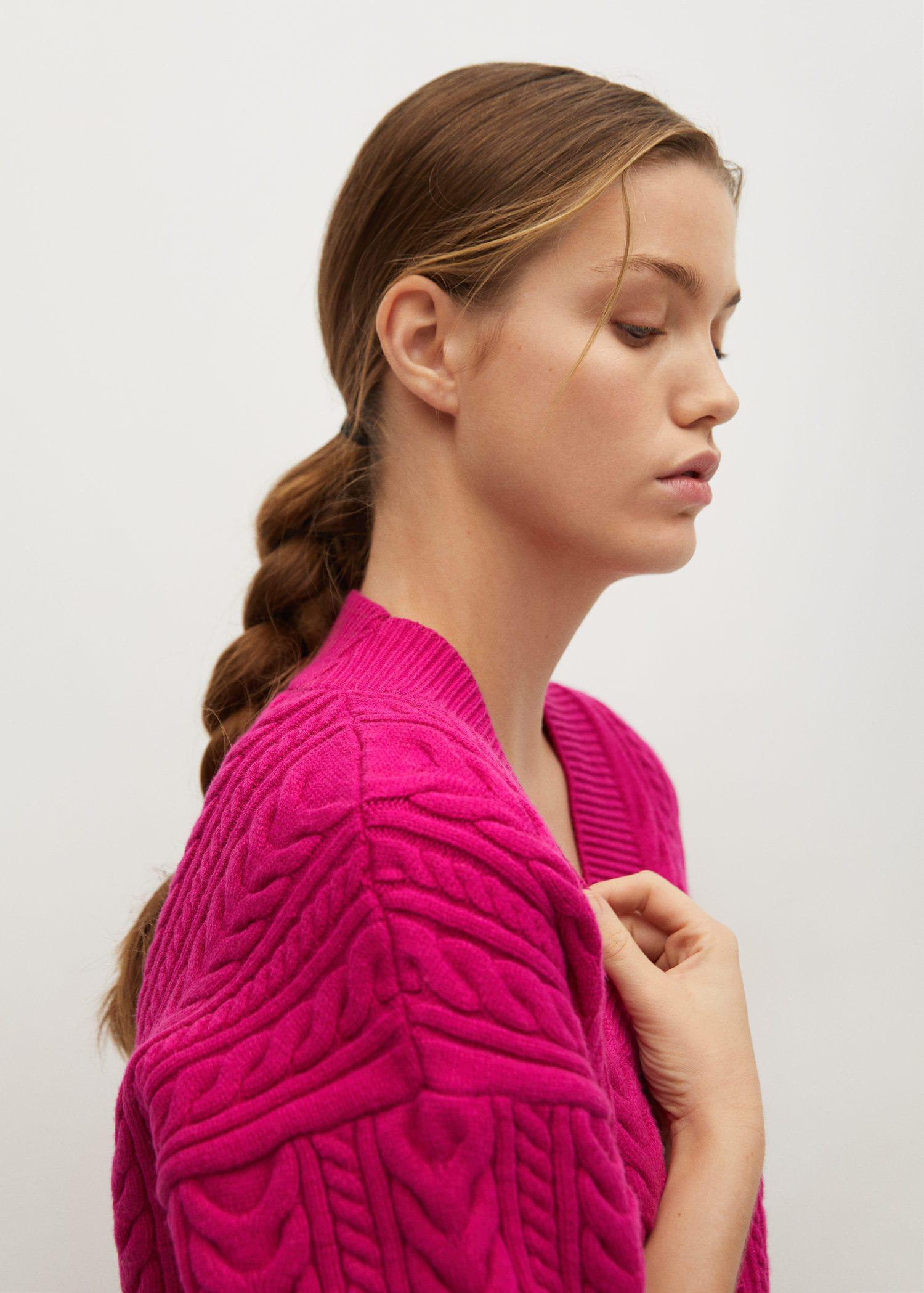 Combined knitted cardigan 4
