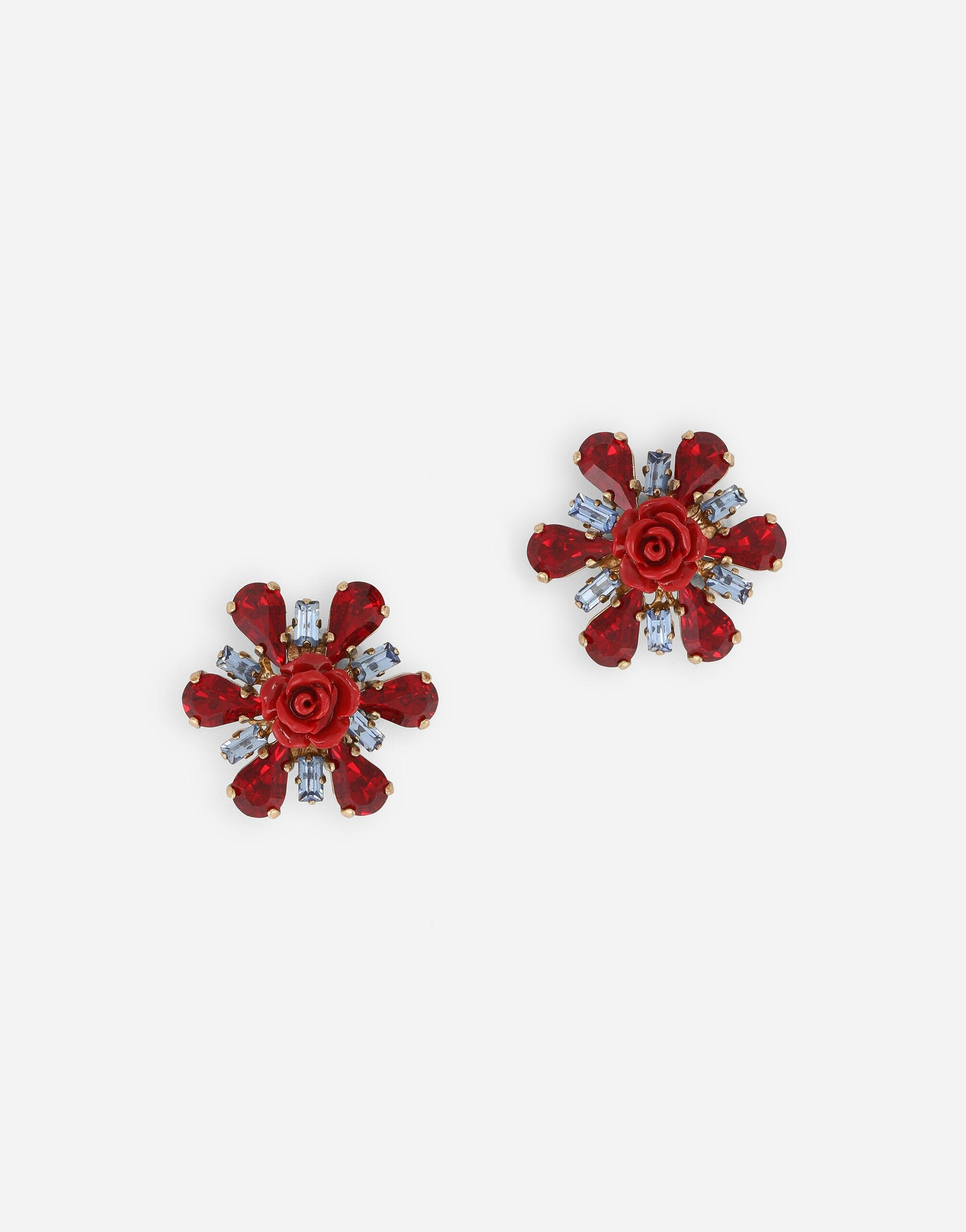 Clip-on earrings with rhinestone accents