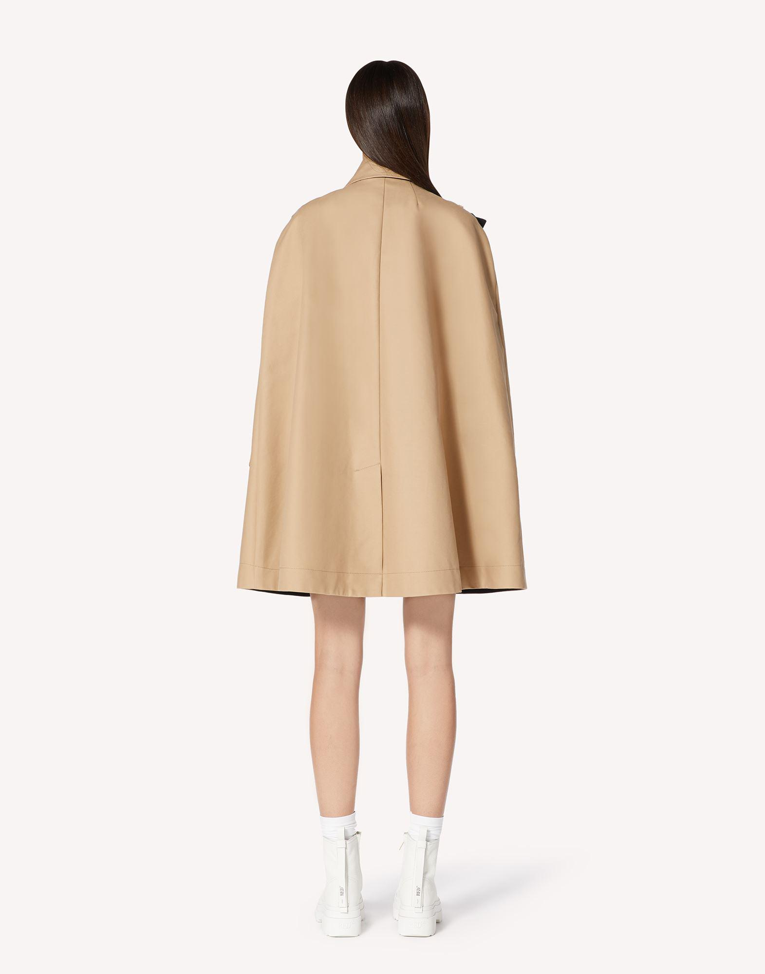 MAY LILY EMBROIDERED TRENCH CAPE WITH BOW DETAIL 1