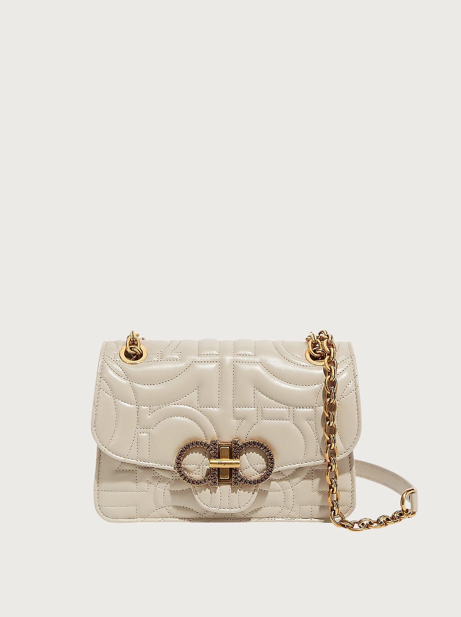 QUILTED GANCINI FLAP BAG (M)