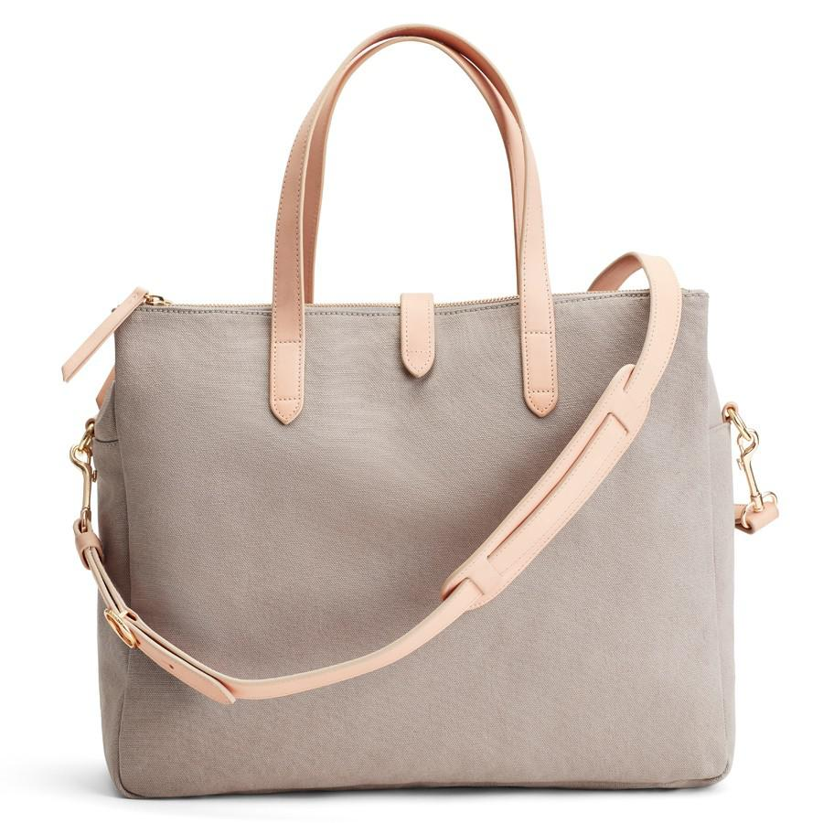 Women's Triple Zipper Overnight Bag in Soft Grey/Natural | Canvas by Cuyana